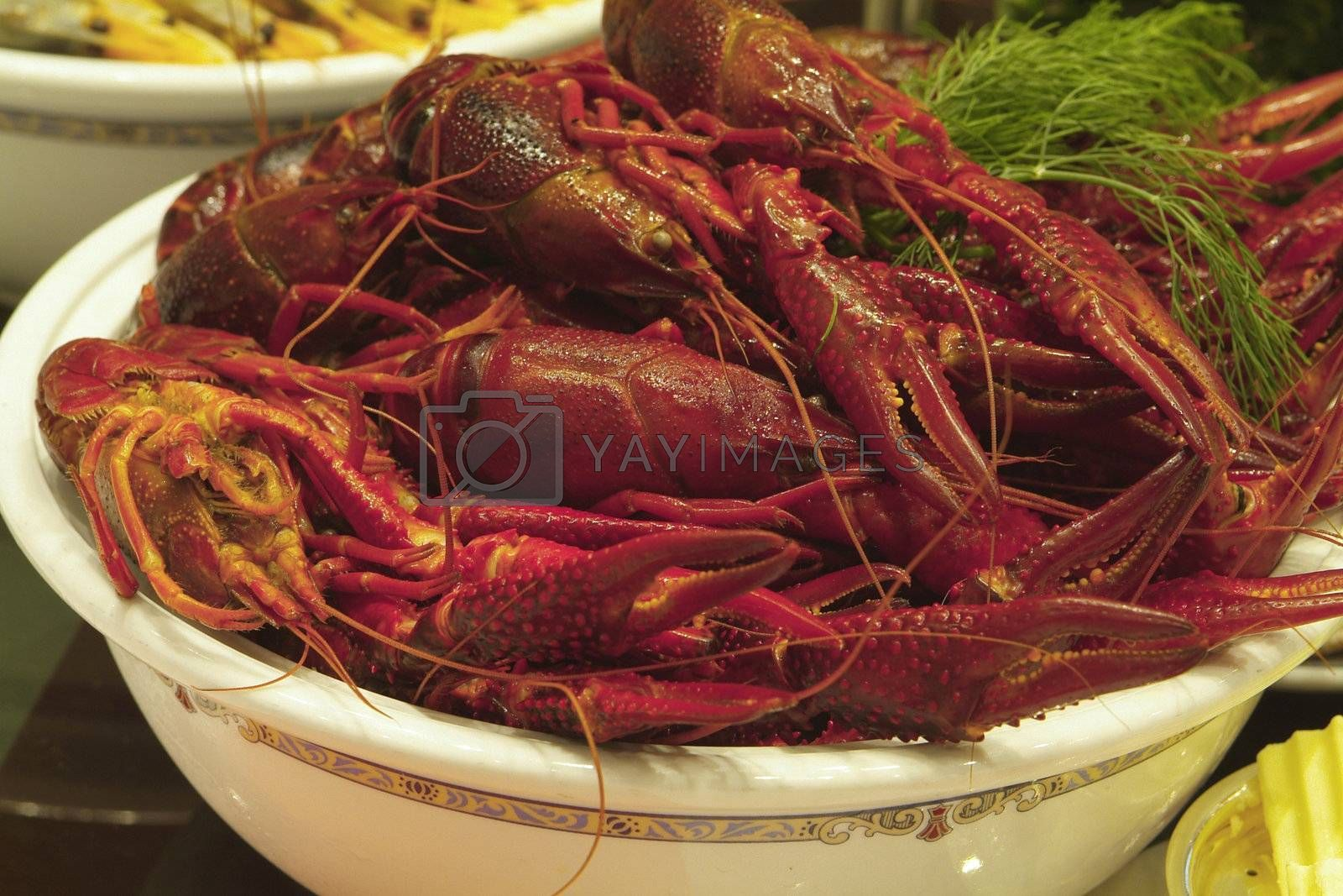 Bowl of crayfish by epixx