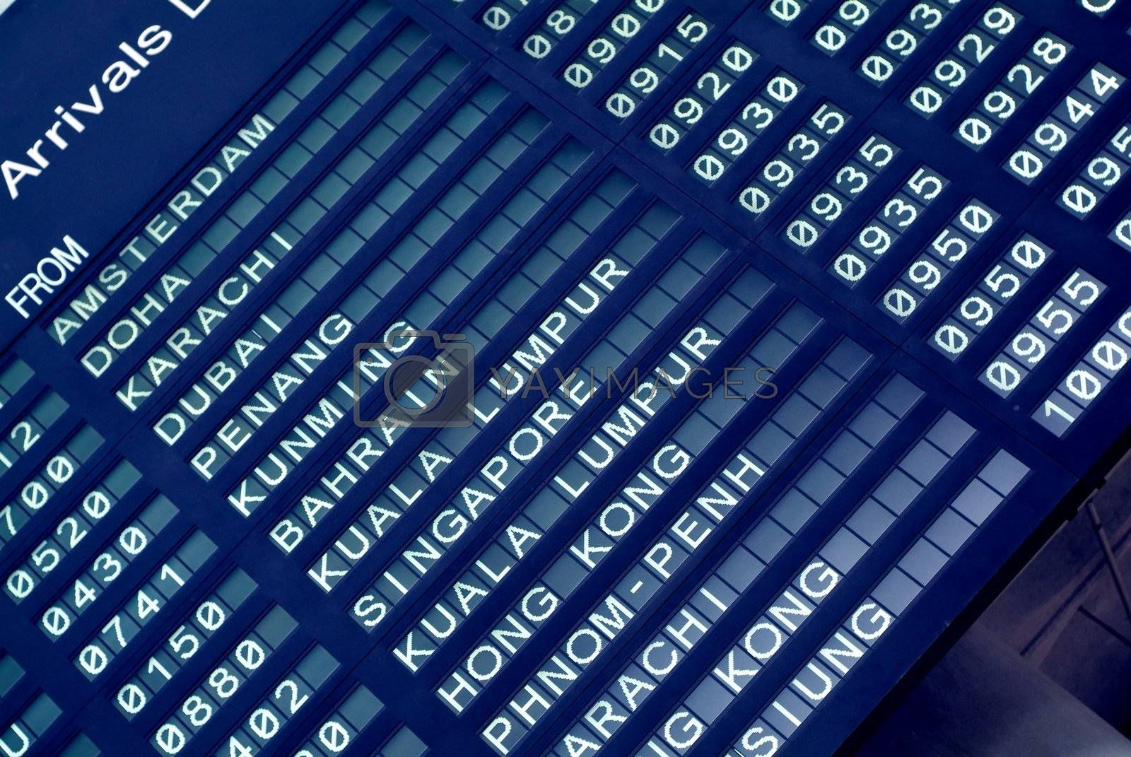Arrival board at an airport by epixx