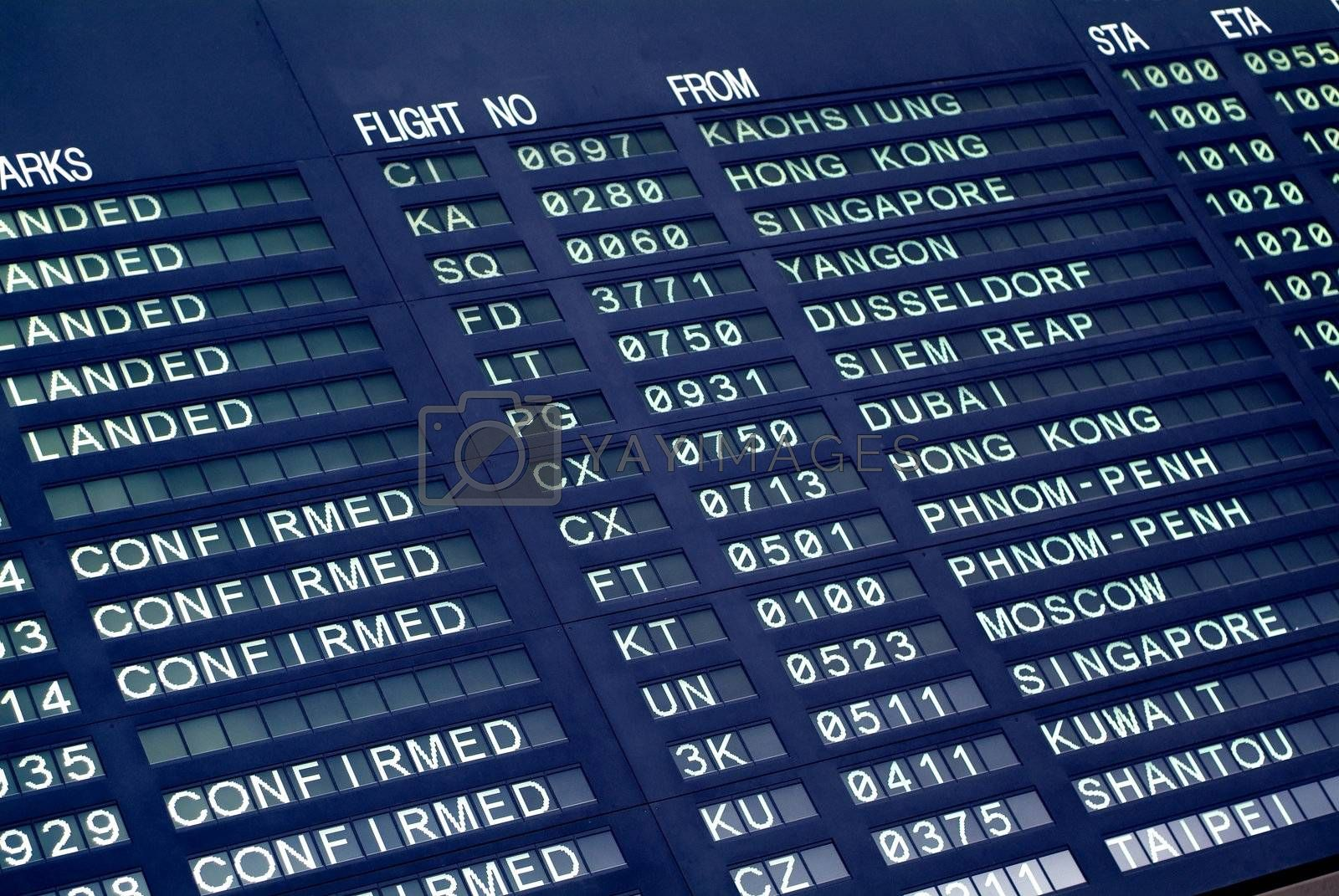 Arrival board at airport by epixx
