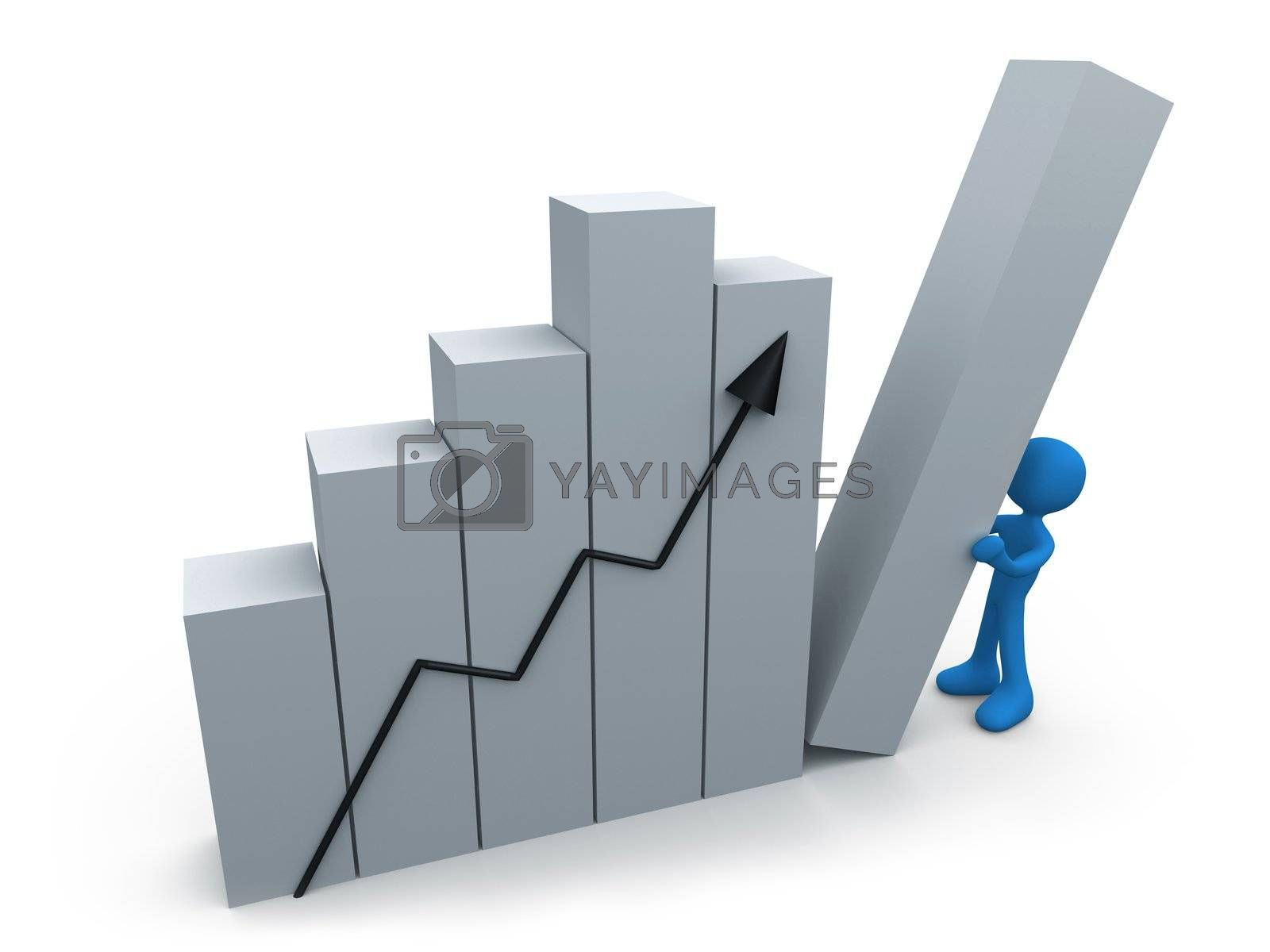 Royalty free image of Business progress by 3pod