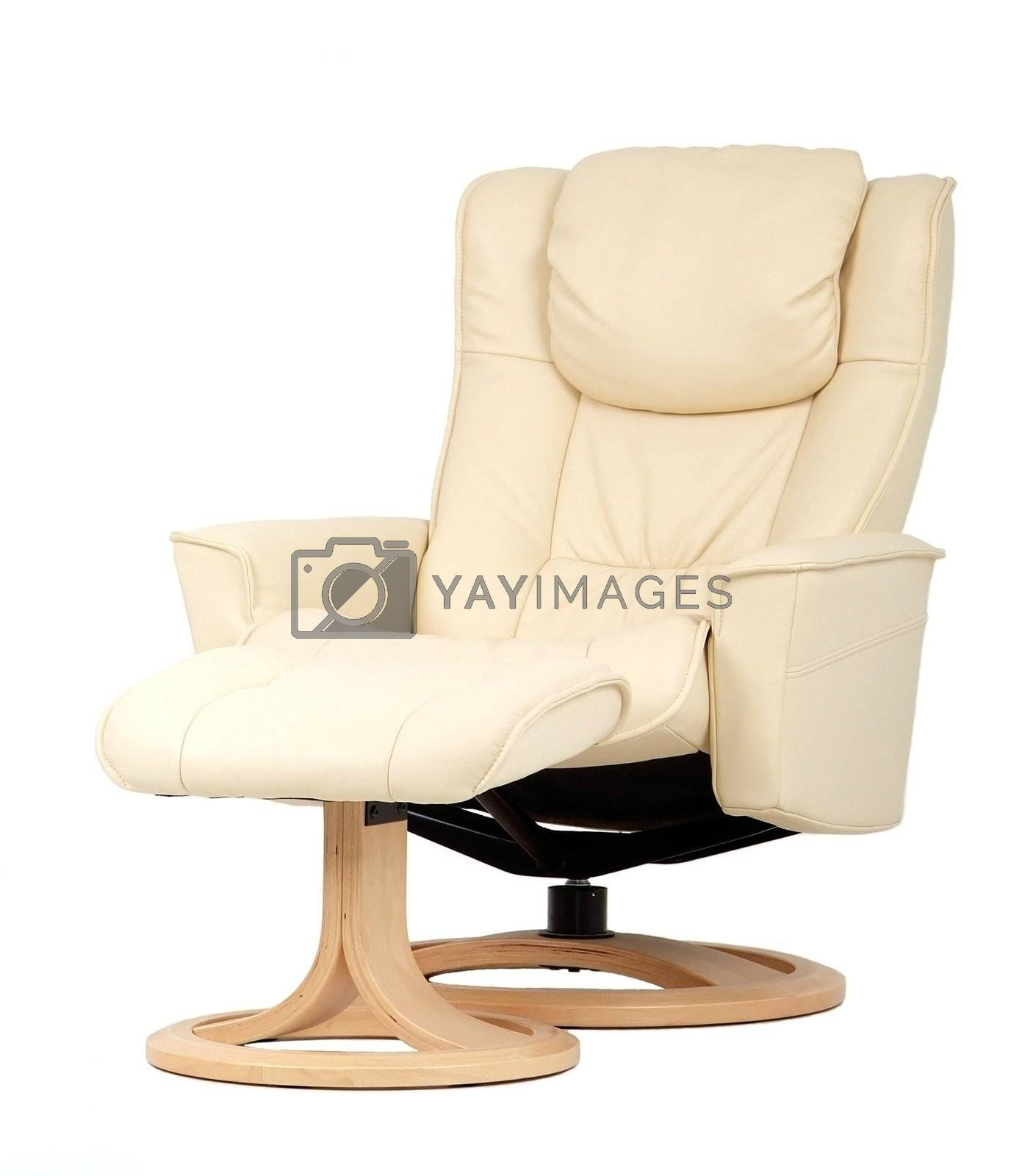 Off-white recliner with footstool by epixx