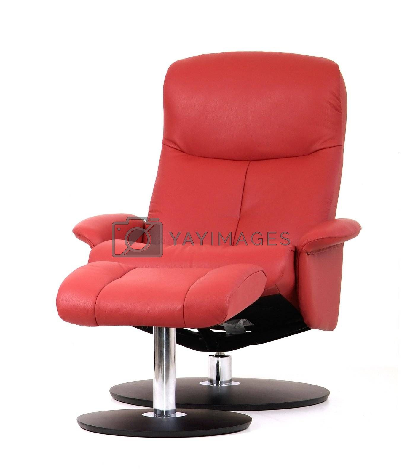 Red recliner with footstool by epixx