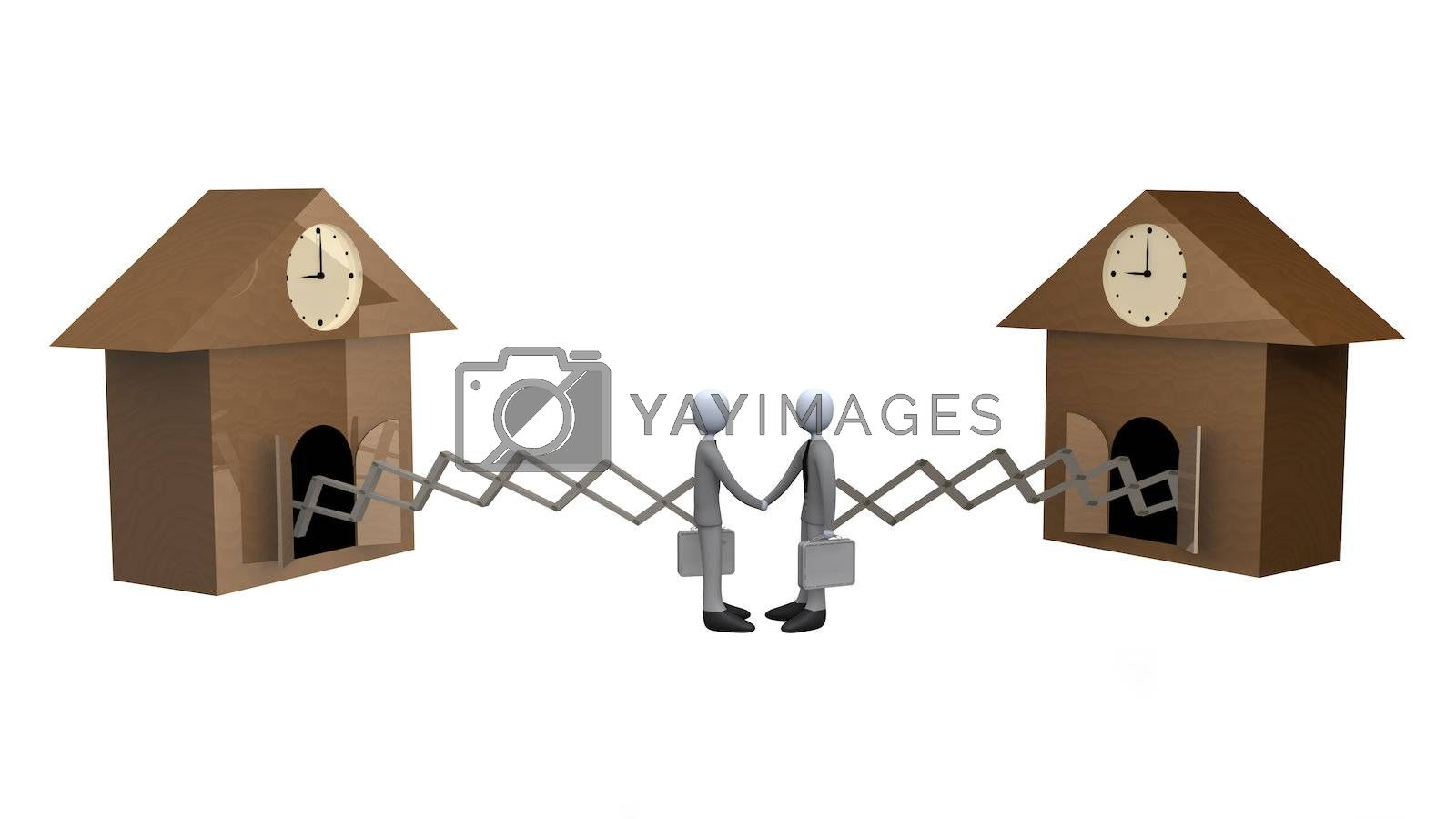 Royalty free image of Cuckoo Clock Deal by 3pod