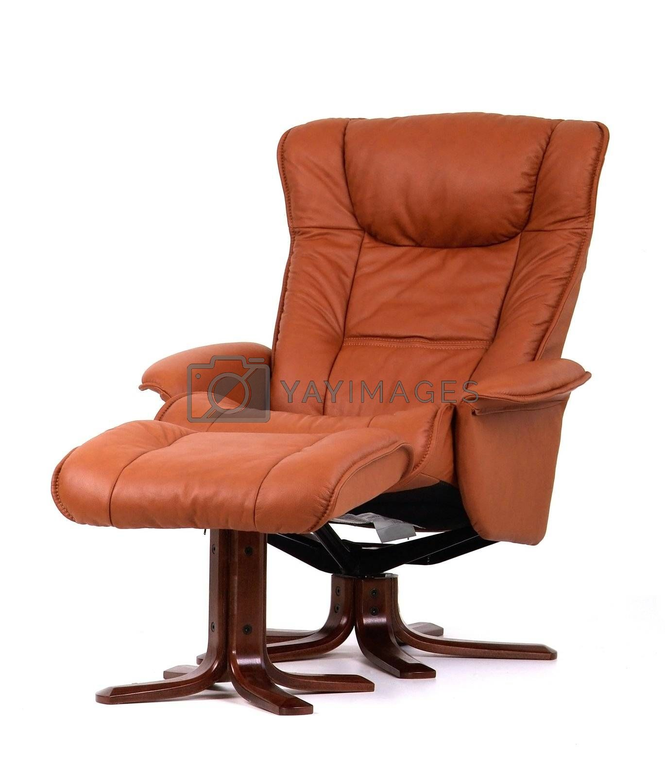 Brown recliner with footstool by epixx