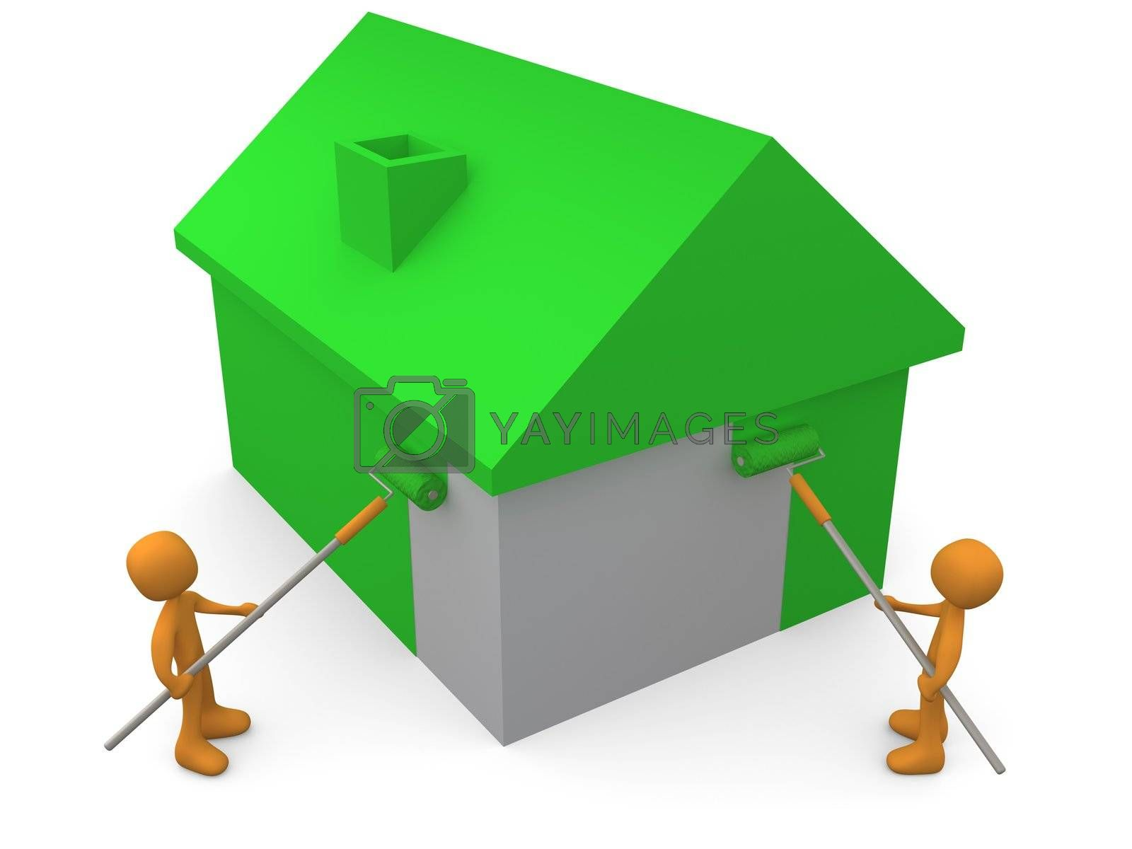 Royalty free image of Painting A House by 3pod