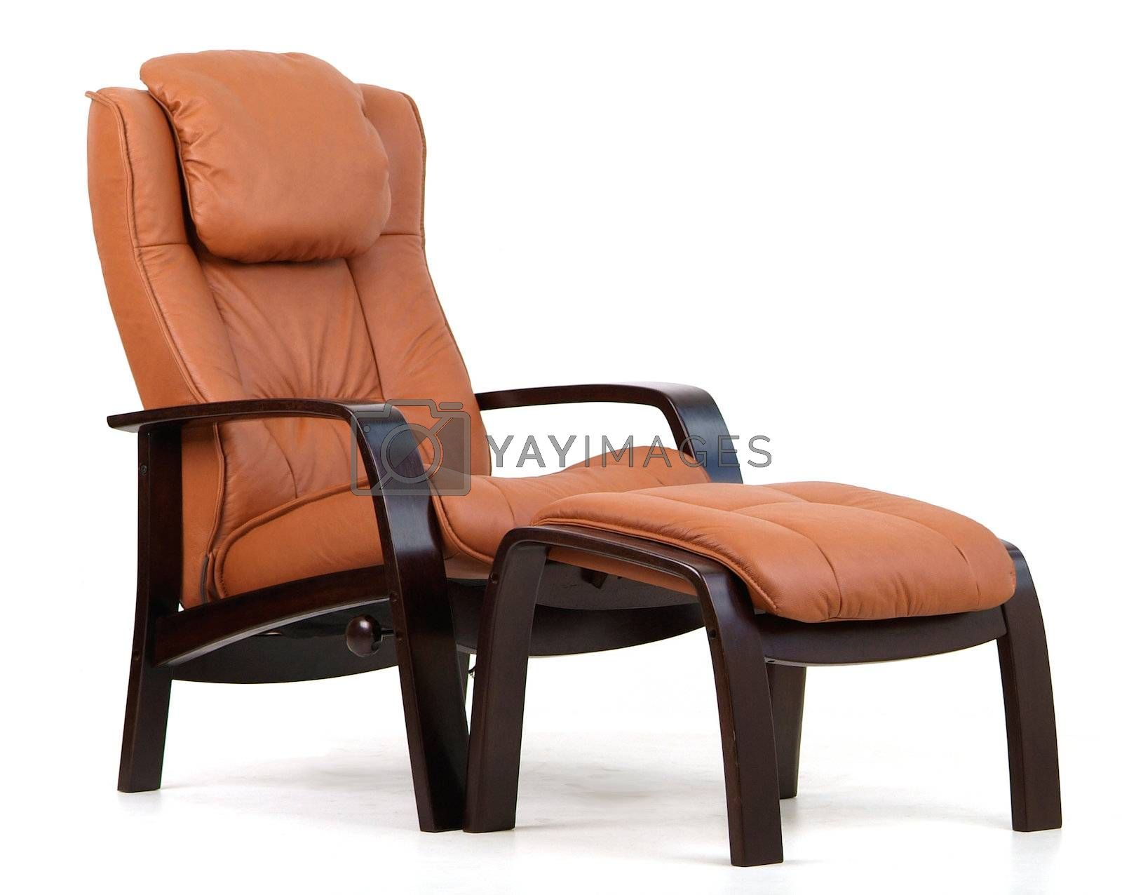 Brown leather recliner. by epixx