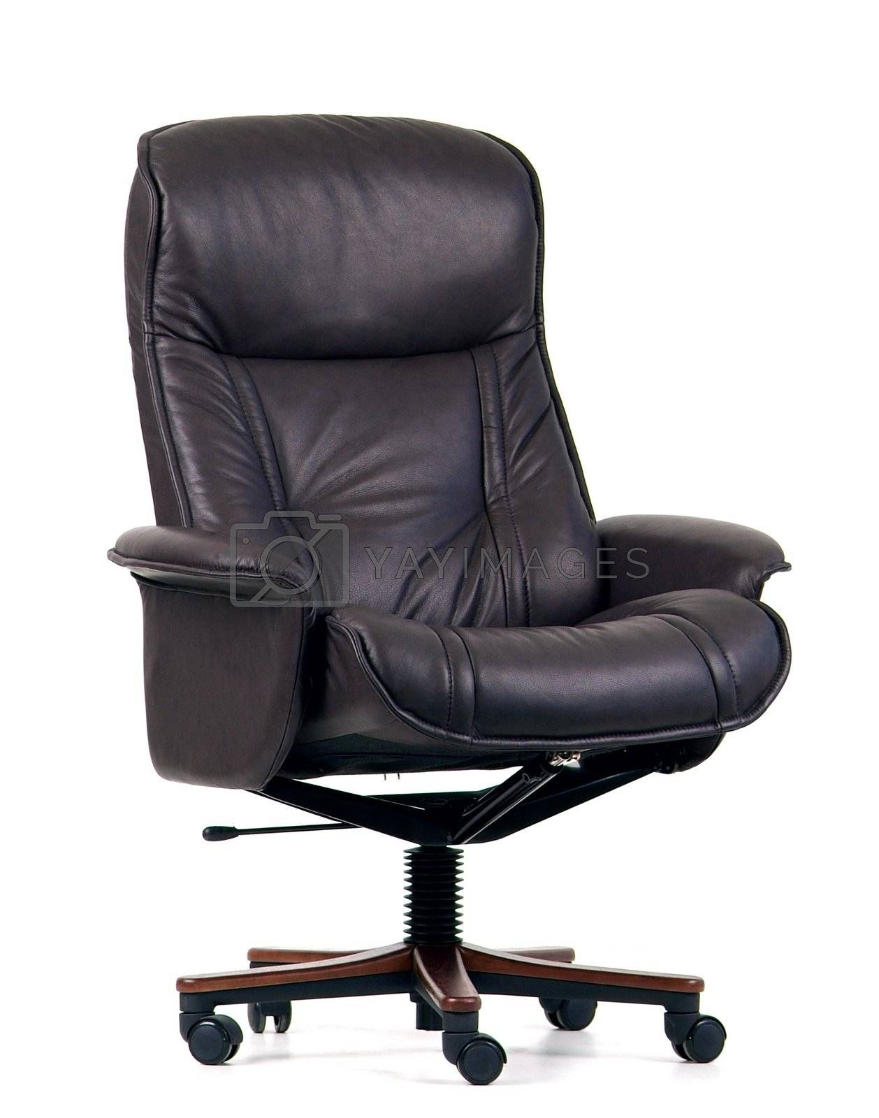 Black leather luxury office chair by epixx