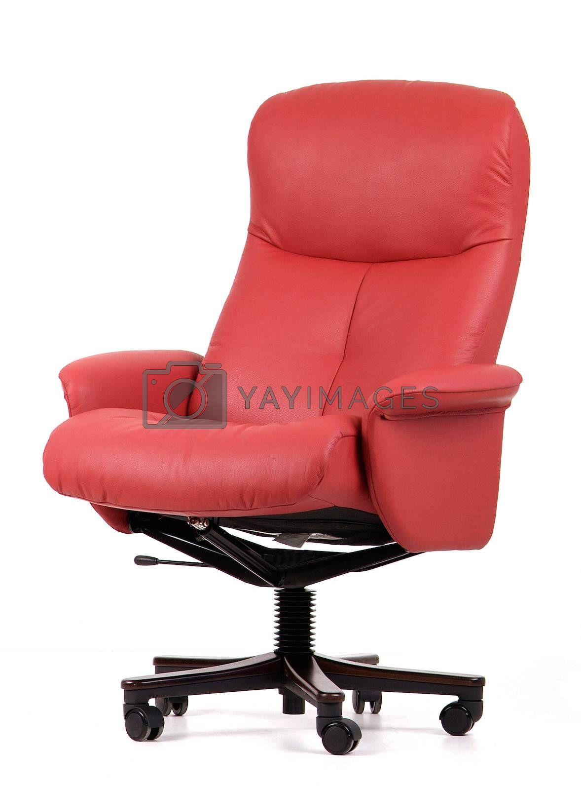 Red leather office chair by epixx