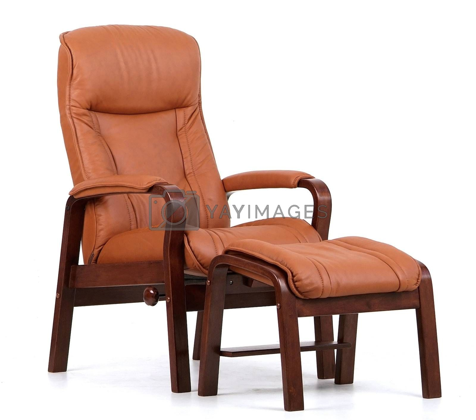 Brown leather recliner by epixx