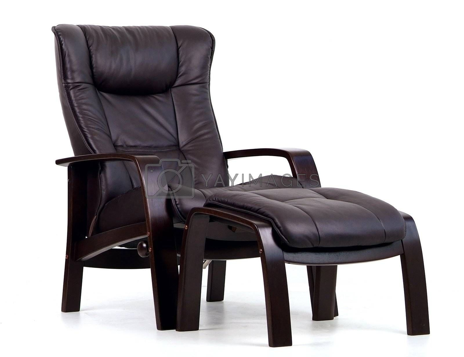 Black leather recliner by epixx