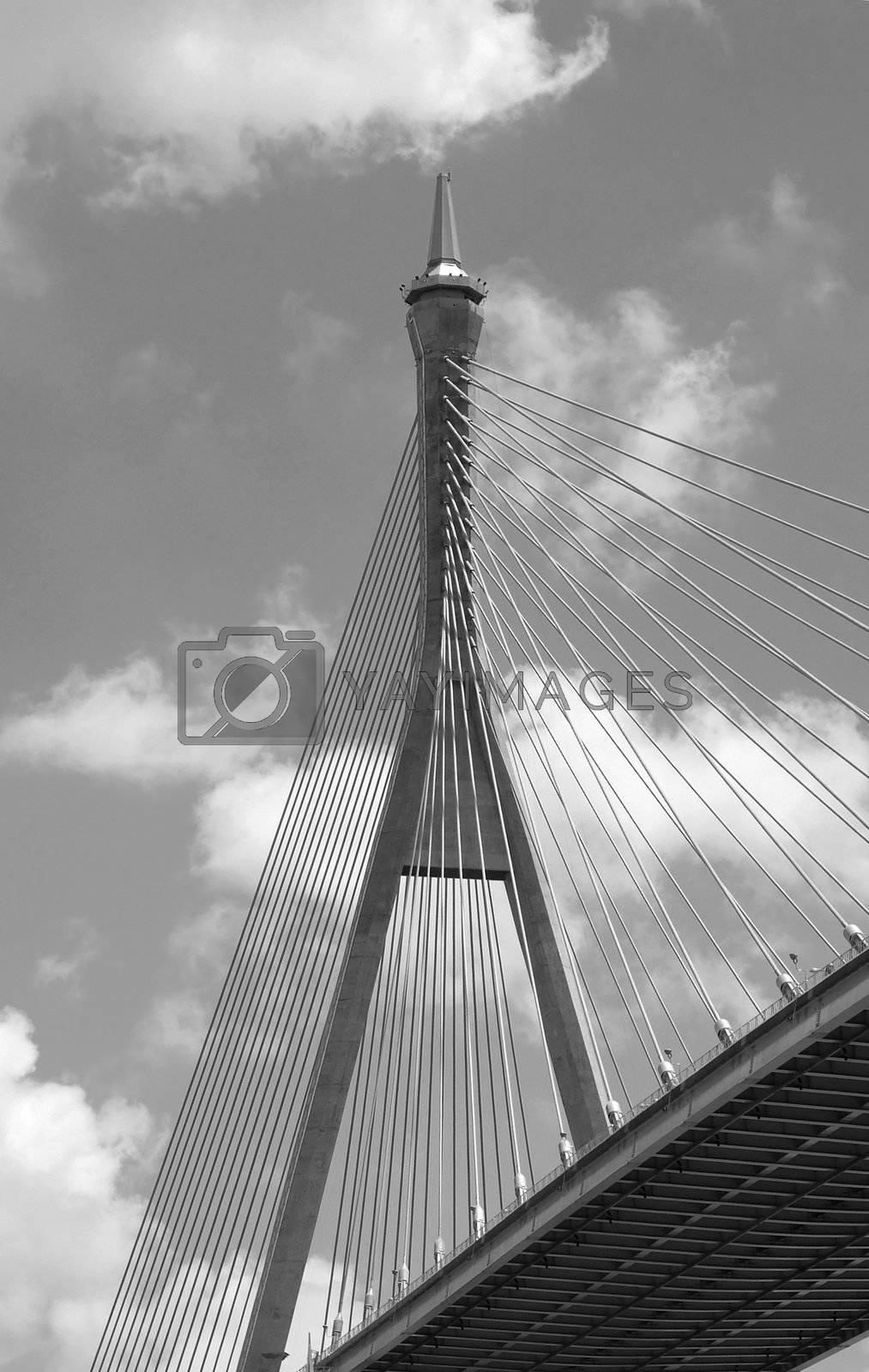 Royalty free image of Suspension bridge in Bangkok by epixx