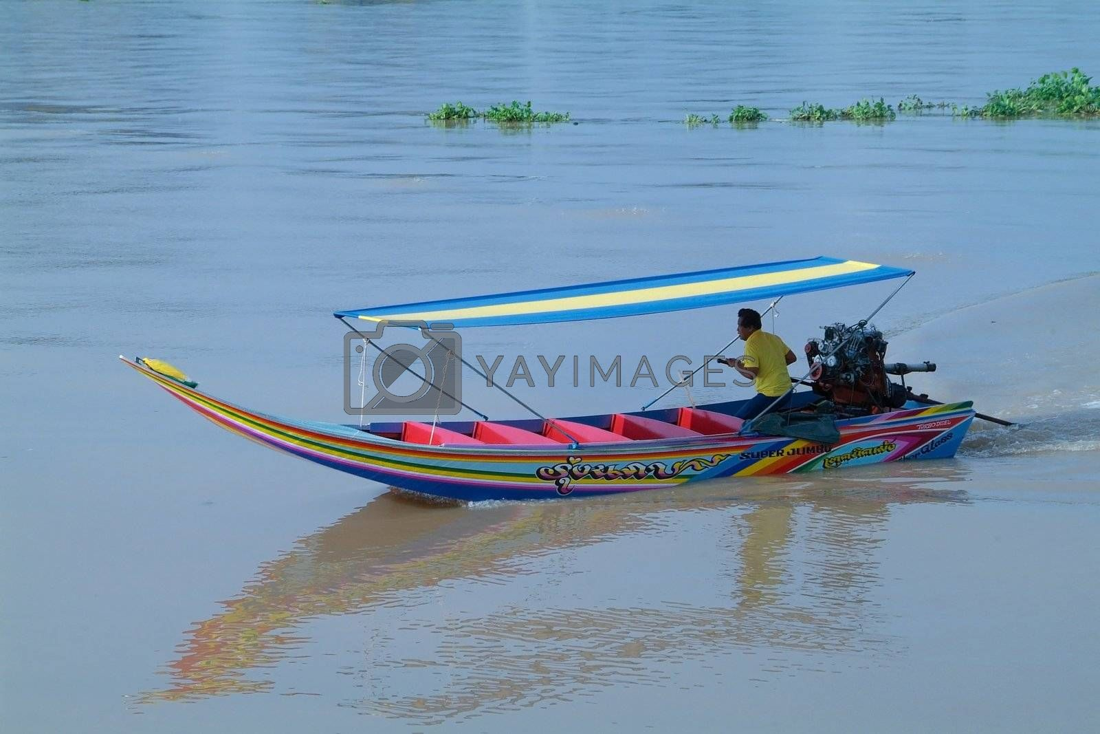 Royalty free image of High-speed longtail boat in Thailand by epixx