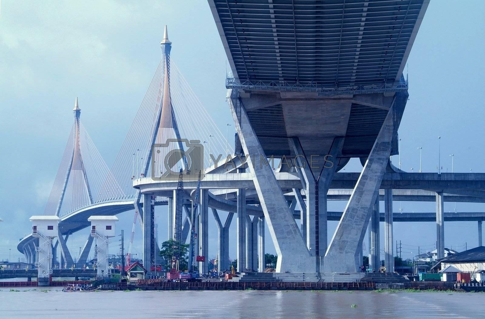 Royalty free image of Bridge in Bangkok, Thailand by epixx
