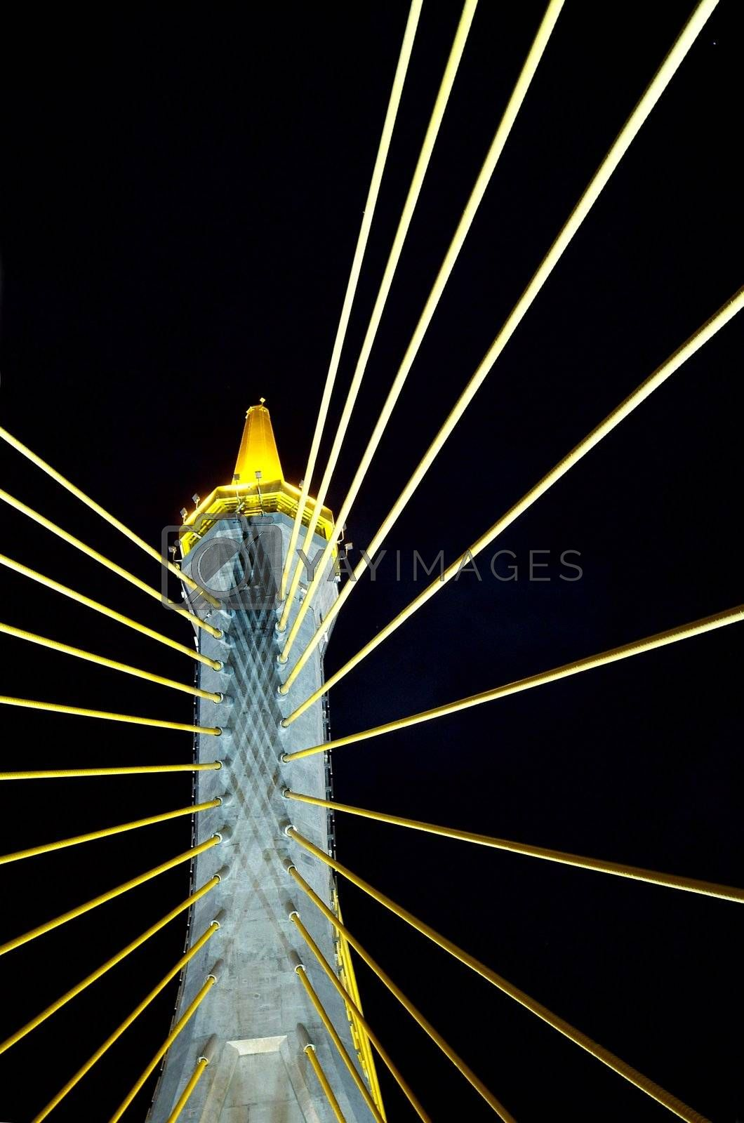 Royalty free image of Detail of suspension bridge by epixx