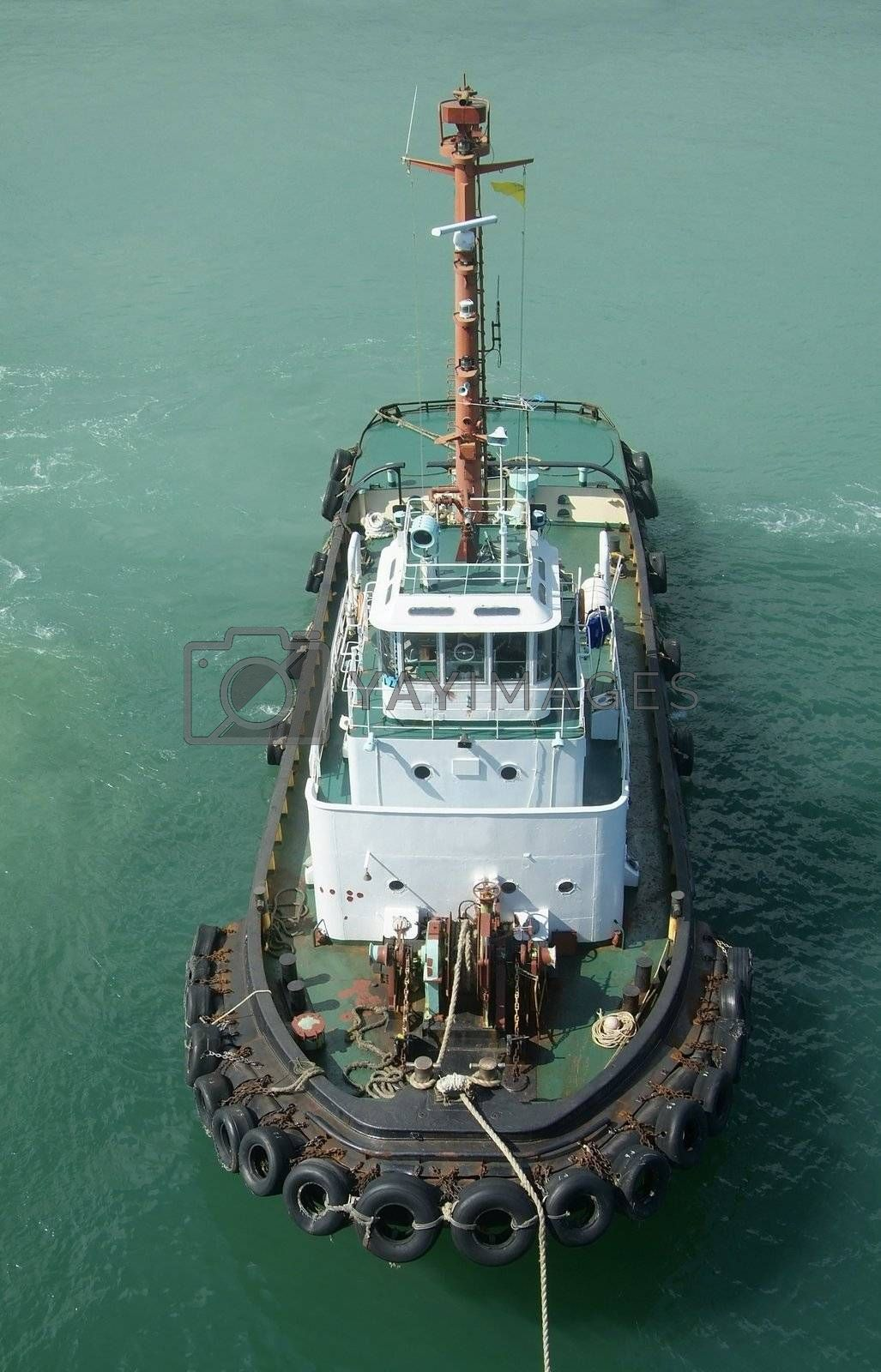 Royalty free image of Tugboat by epixx