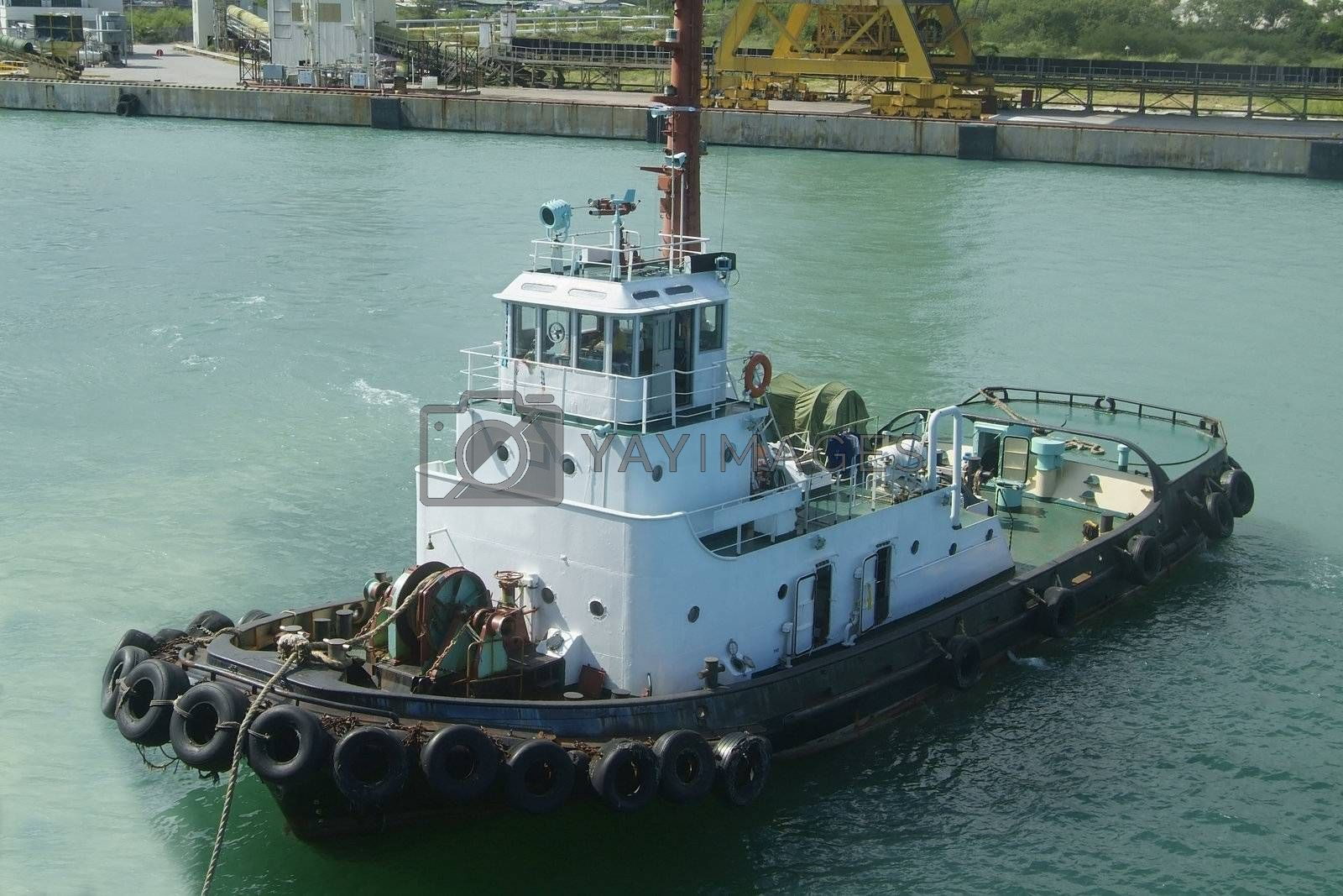 Royalty free image of Towboat by epixx