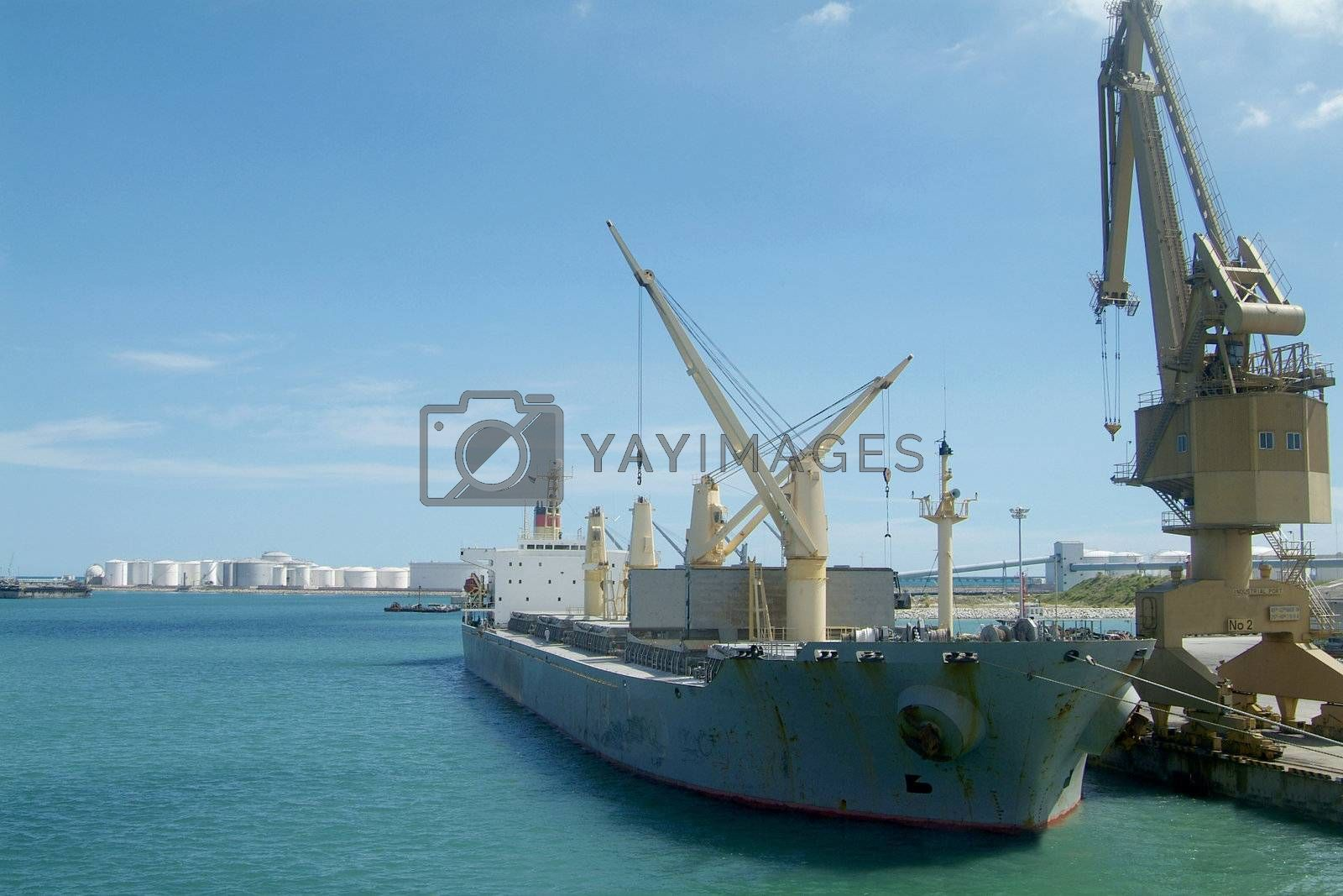 Royalty free image of Ship at port by epixx