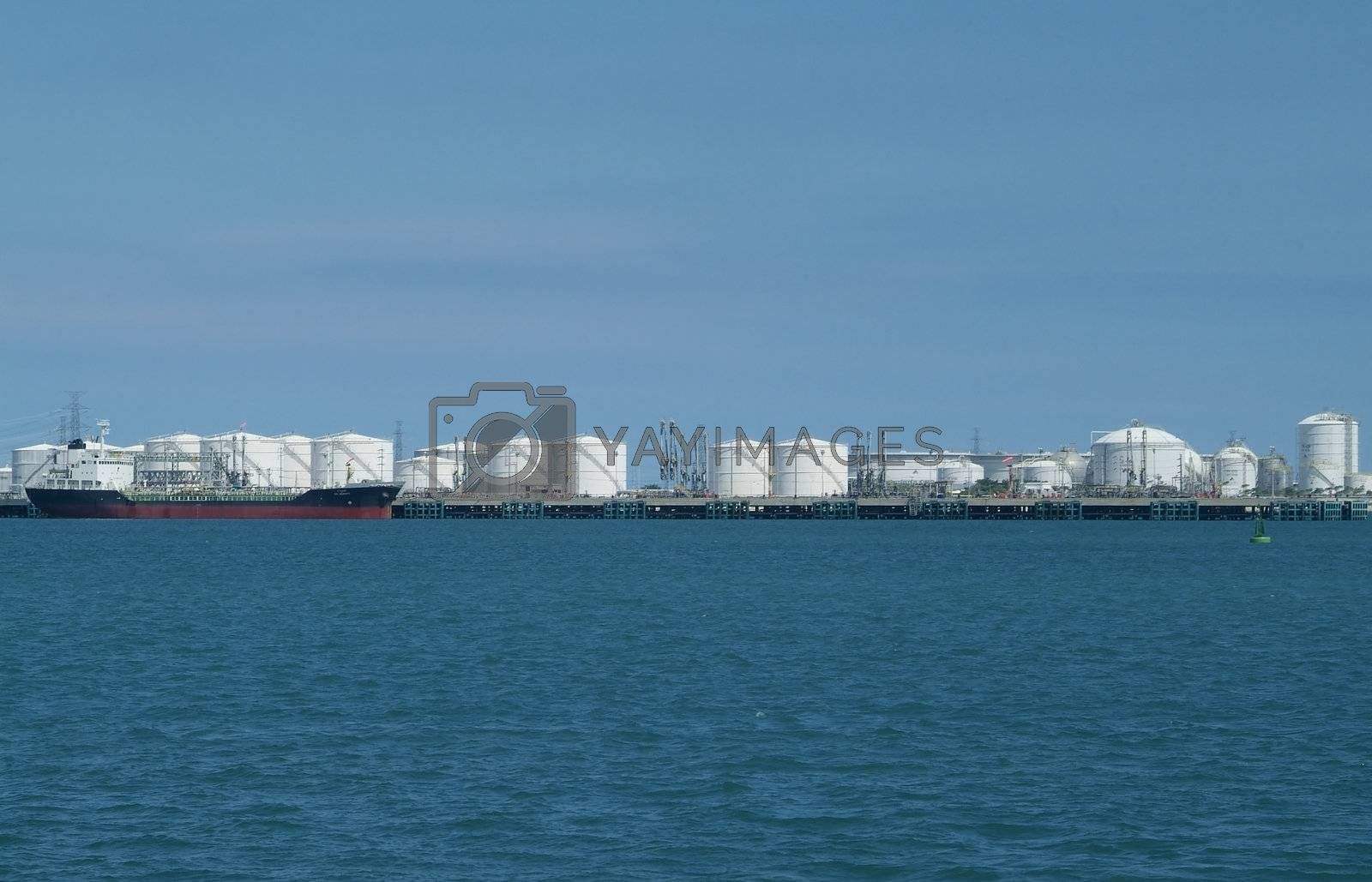 Harbour with storage tanks by epixx