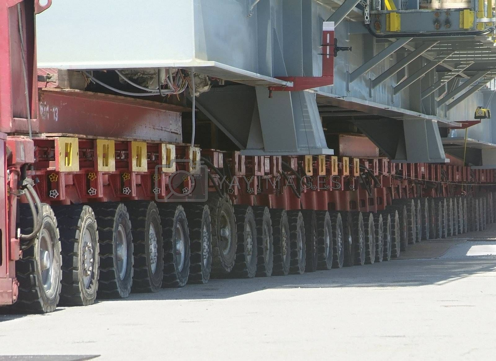 Royalty free image of Detail of heavy-lift equipment by epixx