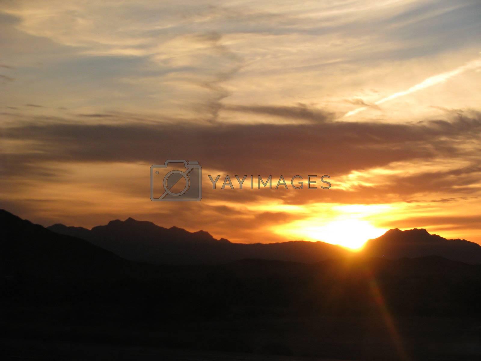 Royalty free image of Arizona Desert Sunset v1 by mwp1969