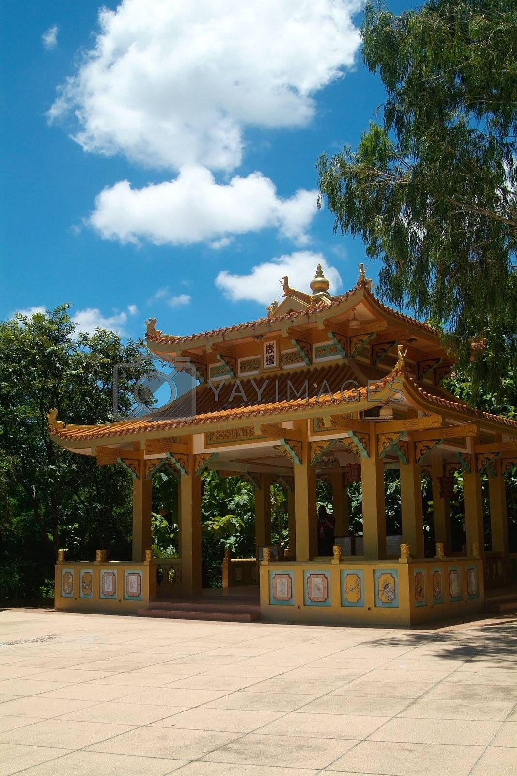 Royalty free image of Building at Chinese temple by epixx