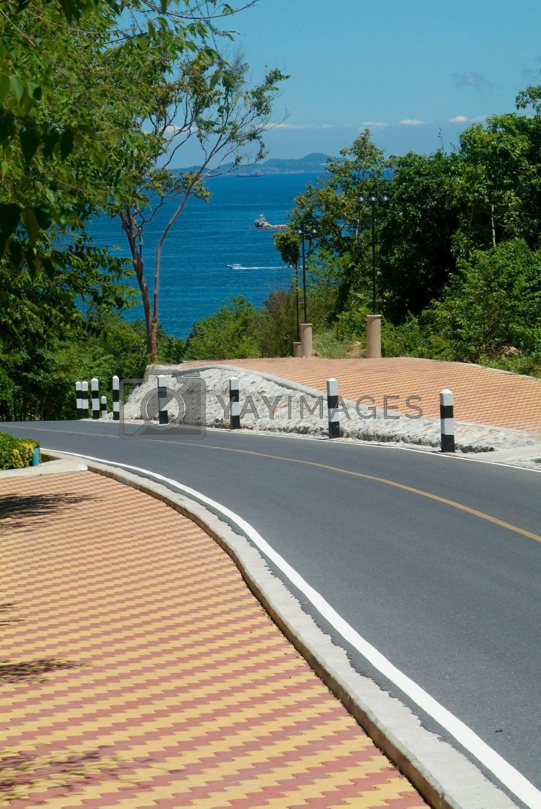Royalty free image of Road by the sea by epixx