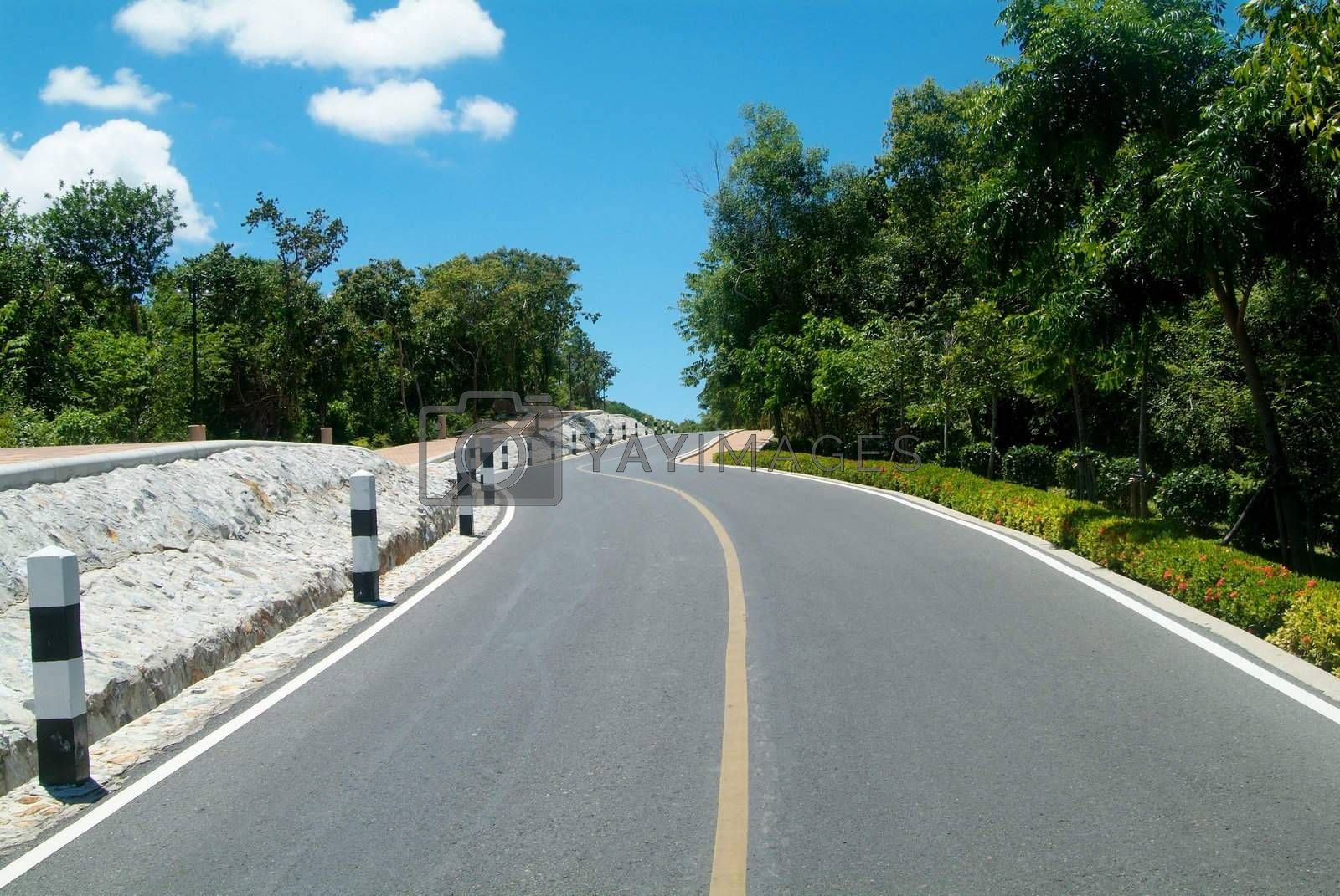 Royalty free image of Road over a hill by epixx