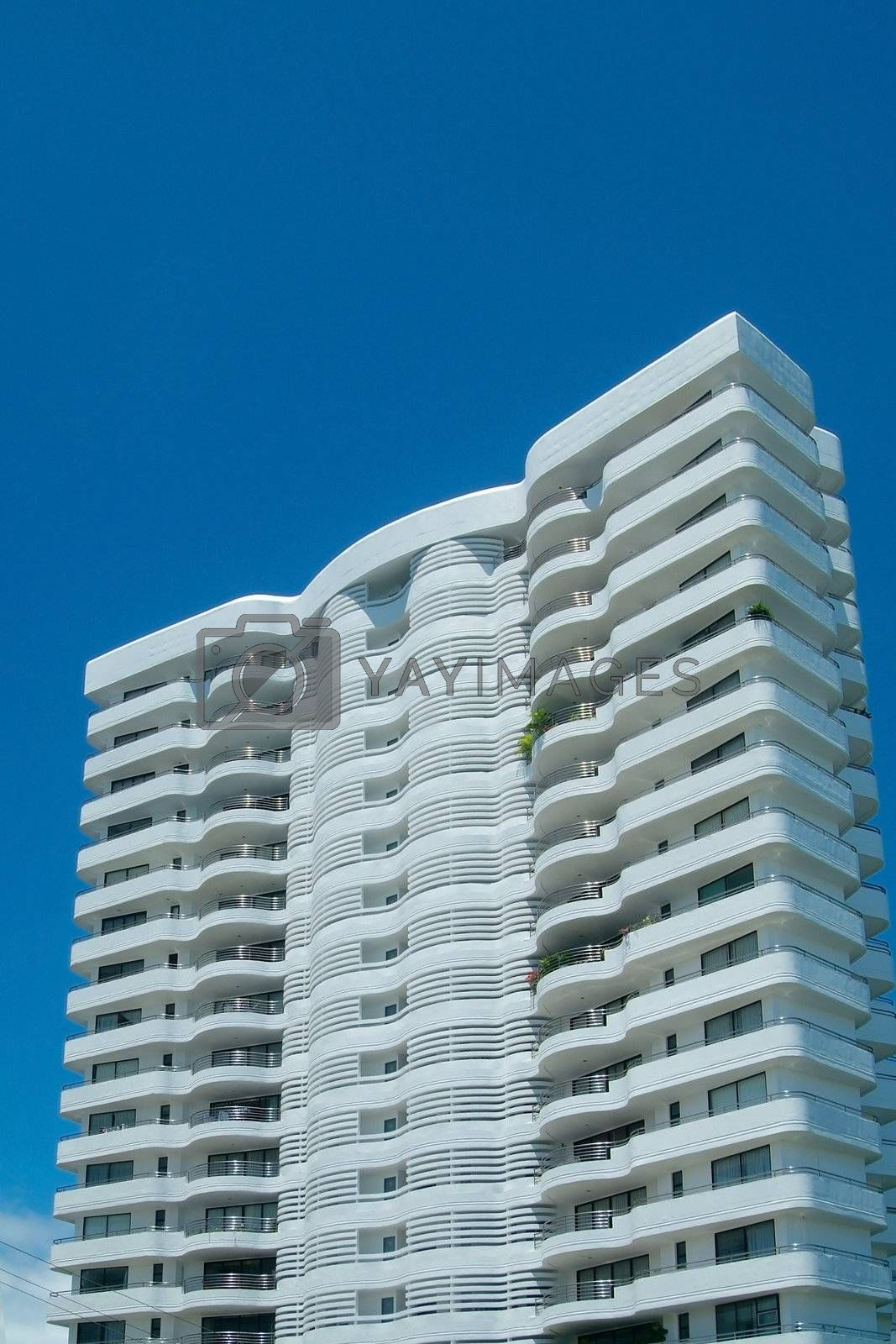 Royalty free image of White apartment-building by epixx