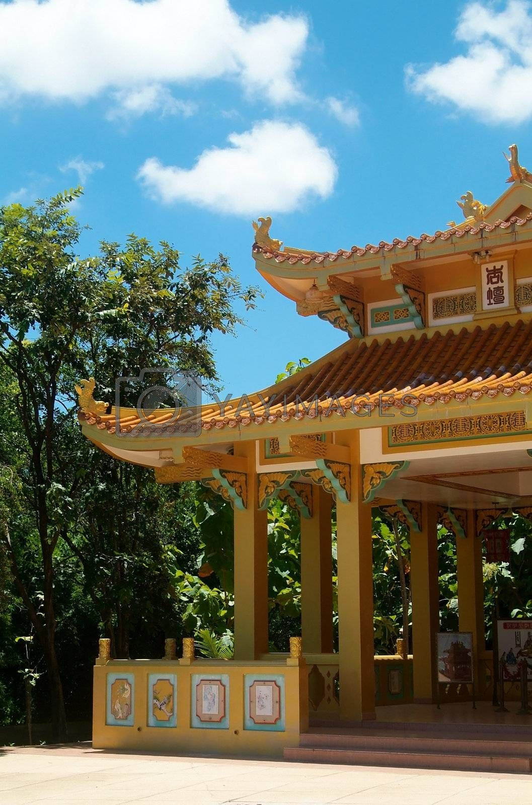 Royalty free image of Detail of Chinese temple by epixx