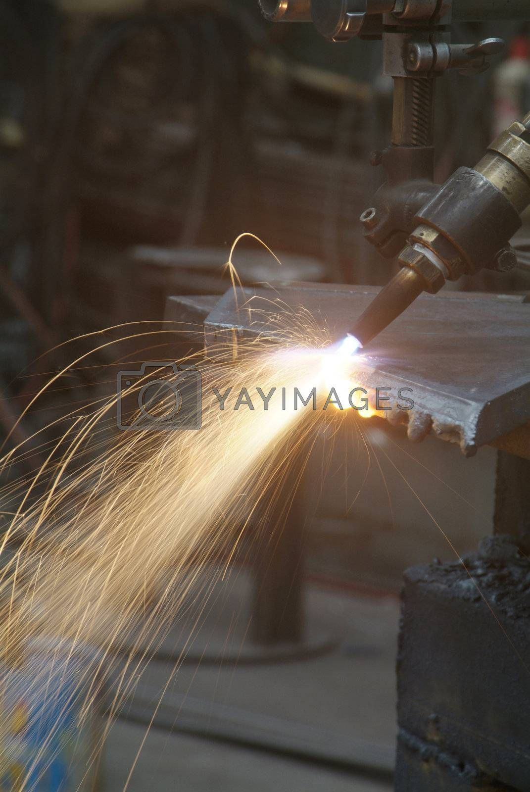 Royalty free image of Cutting of steel by epixx