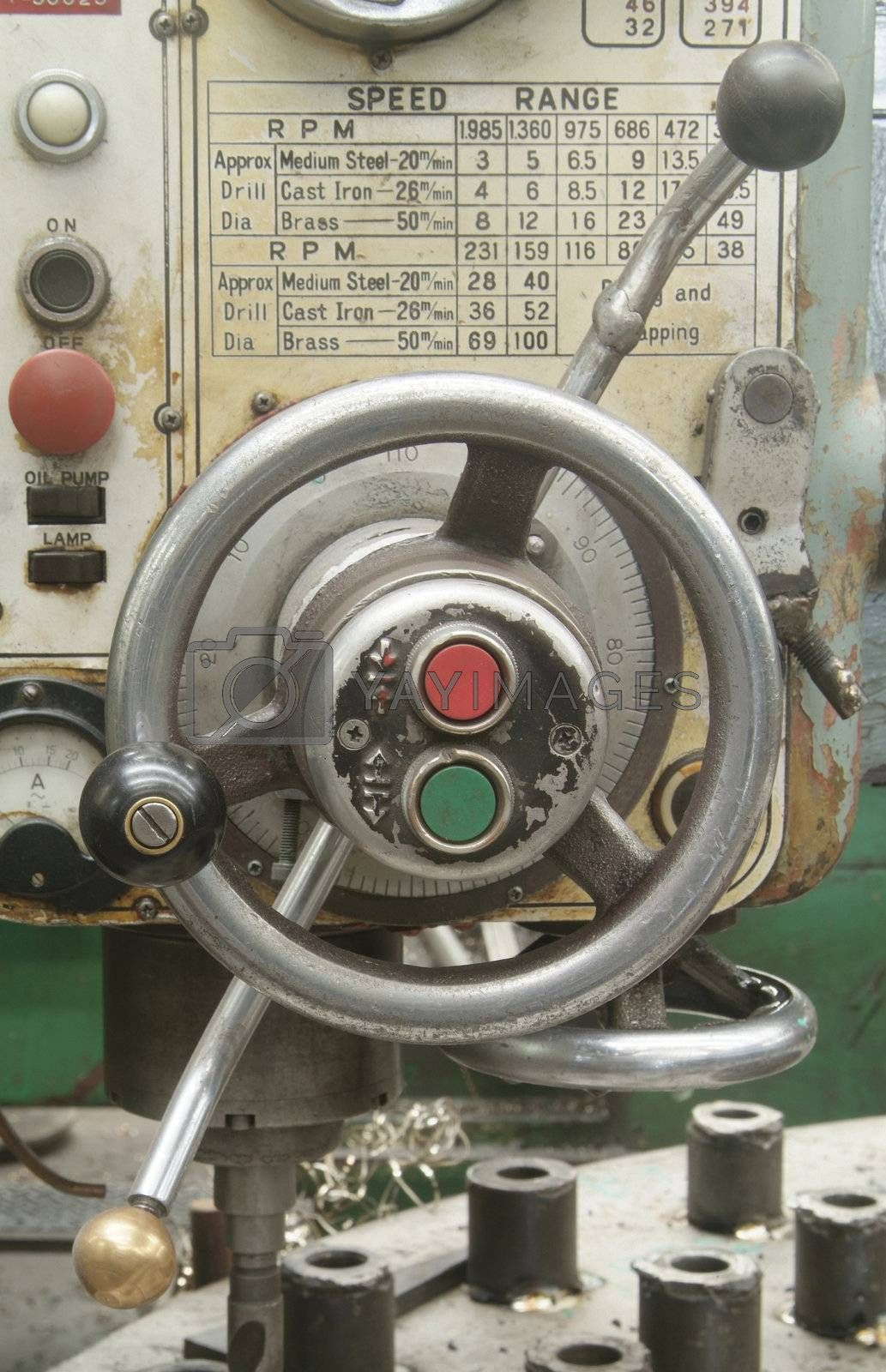 Royalty free image of Detail of drilling machine by epixx