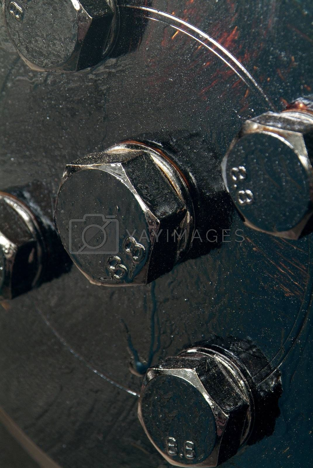 Royalty free image of Black, painted bolts by epixx