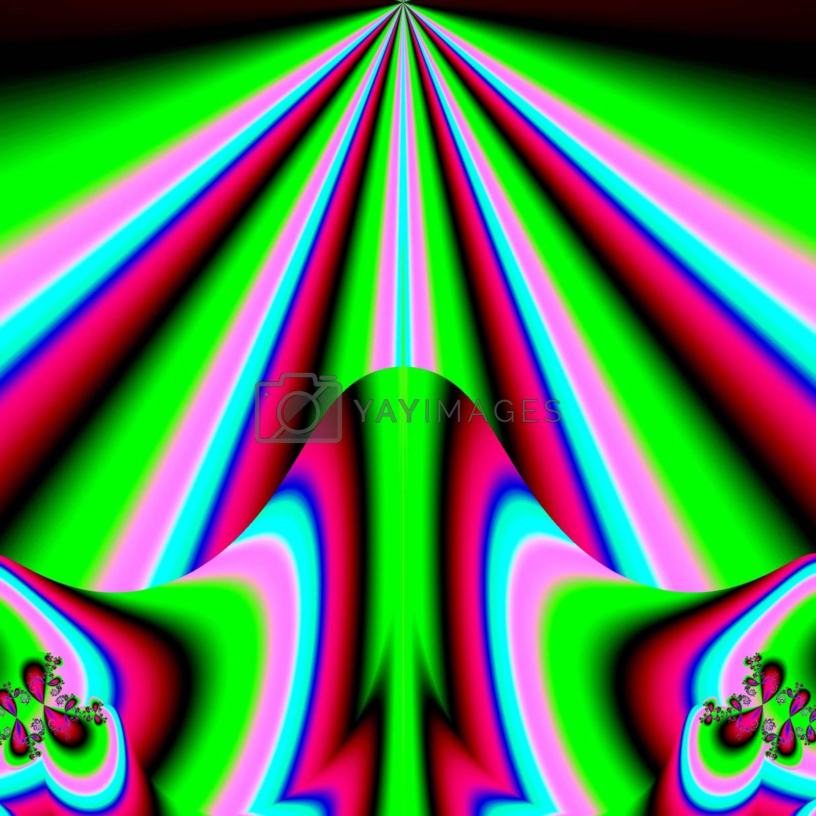 green fractal arrow