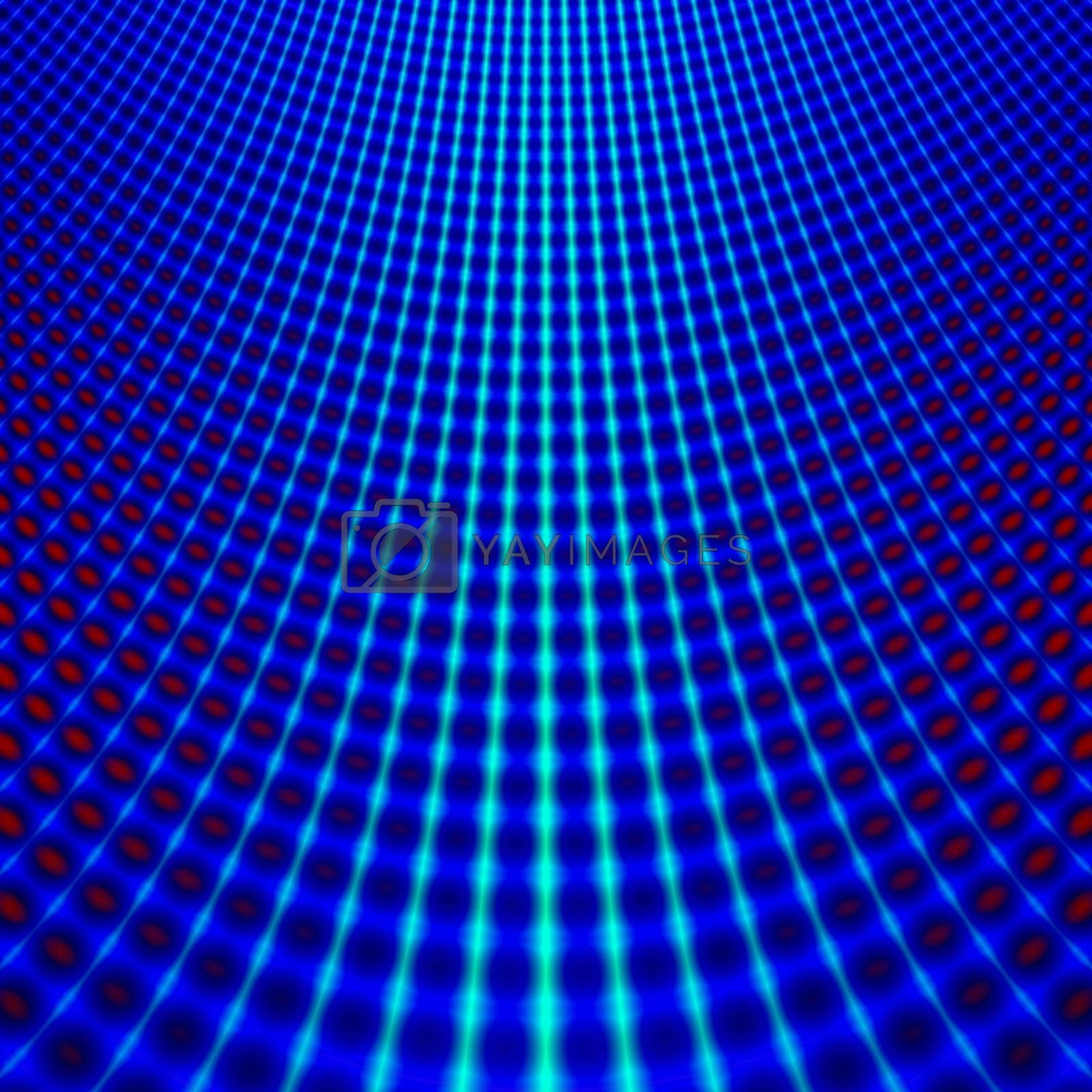 background with a blue bend grid structure
