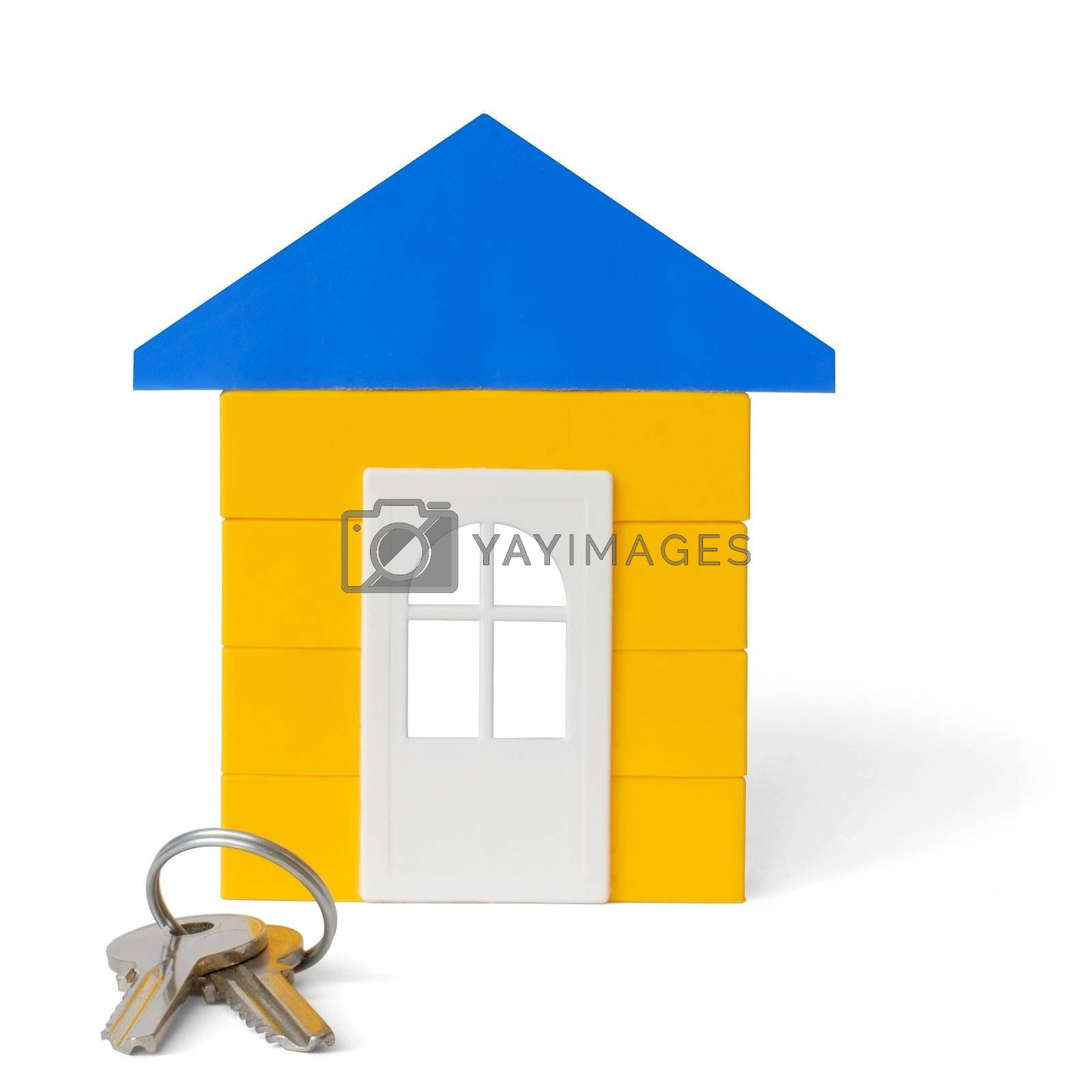 Isolated house and keys
