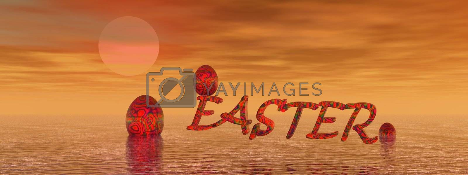 Easter orange and eggs