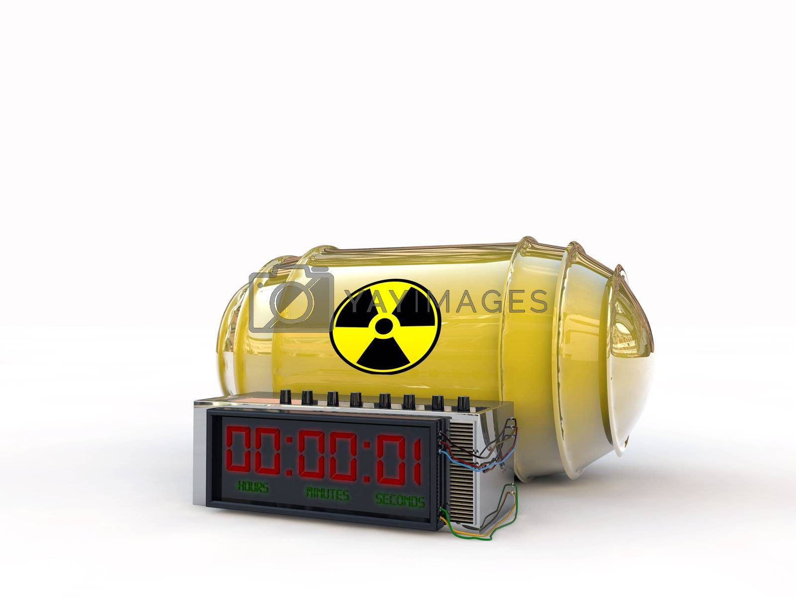 atomic bomb with digital timer