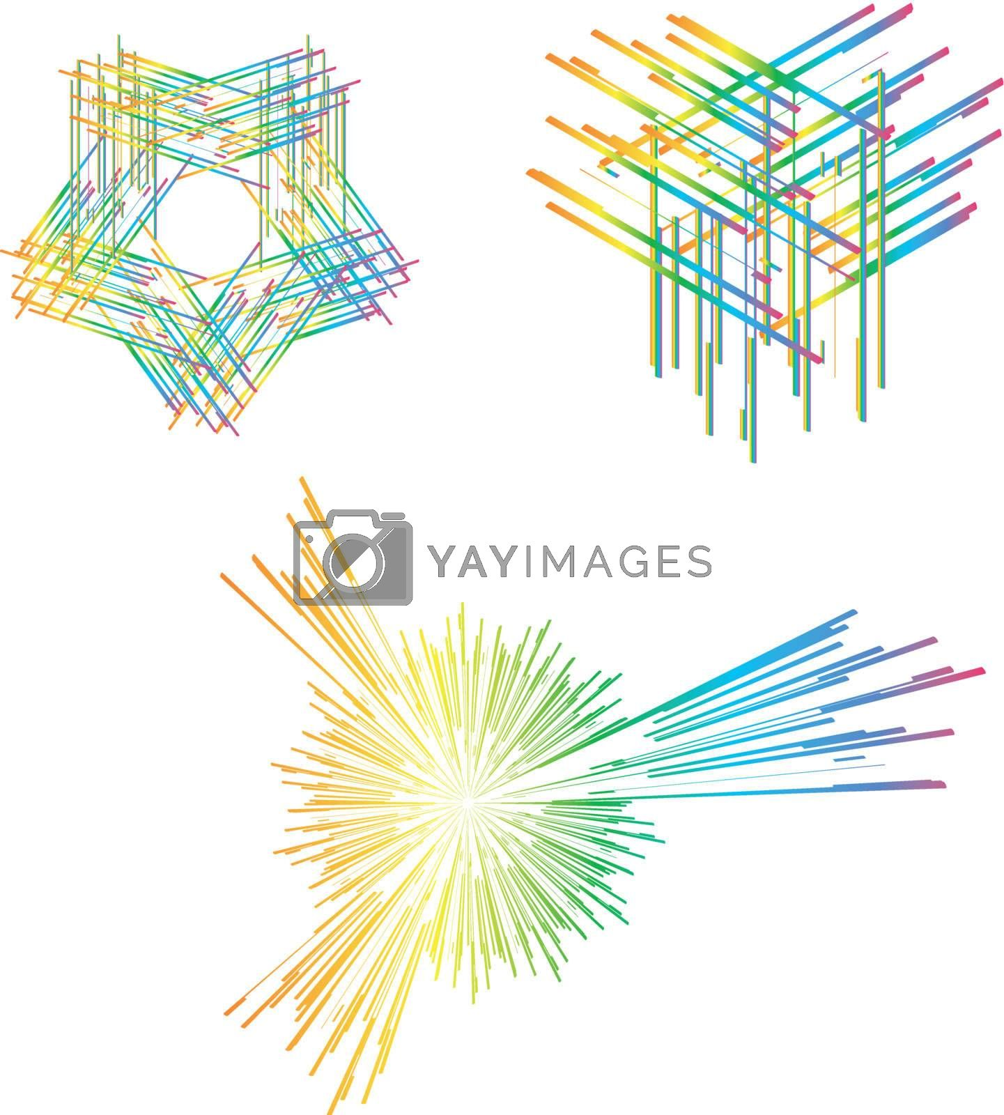 Abstract color vector line aka pattern brush