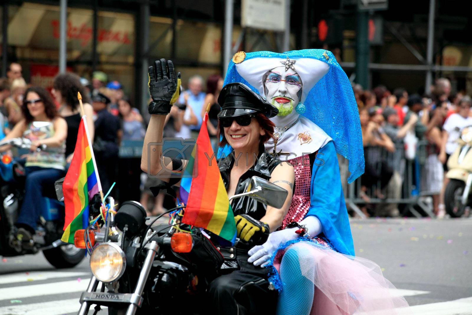 Manhattan - JUNE 28: NYC Pride March on June 28, 2009 in Manhattan