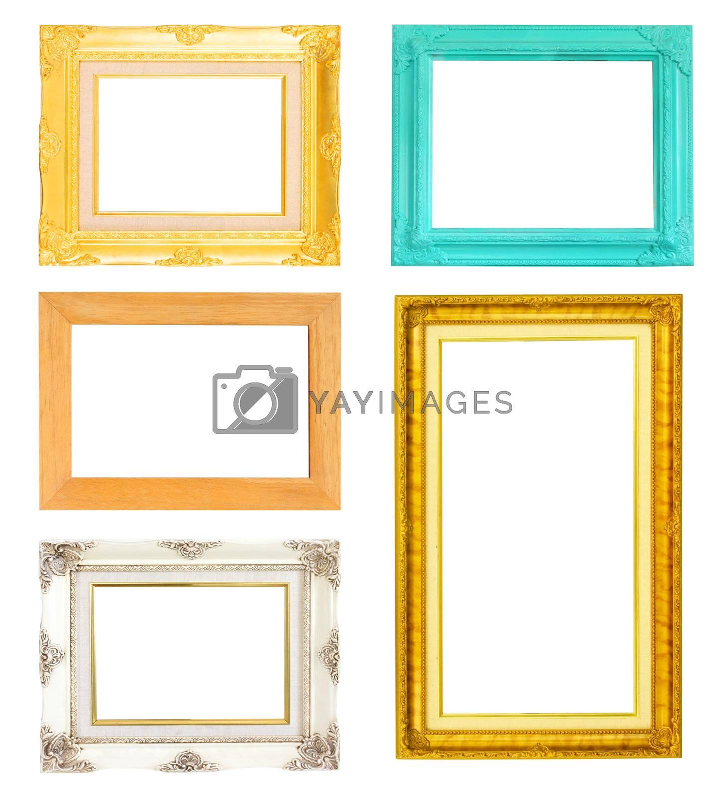 vintage frames set isolated on white background