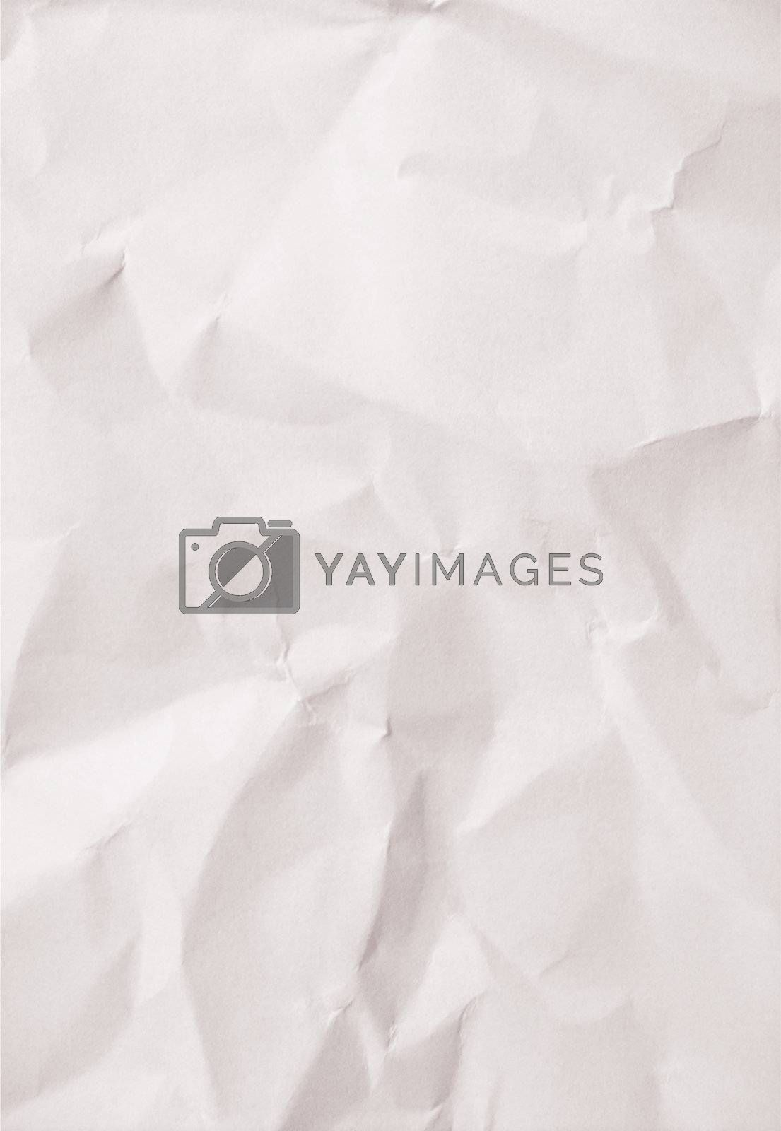 White blank crumpled paper for background
