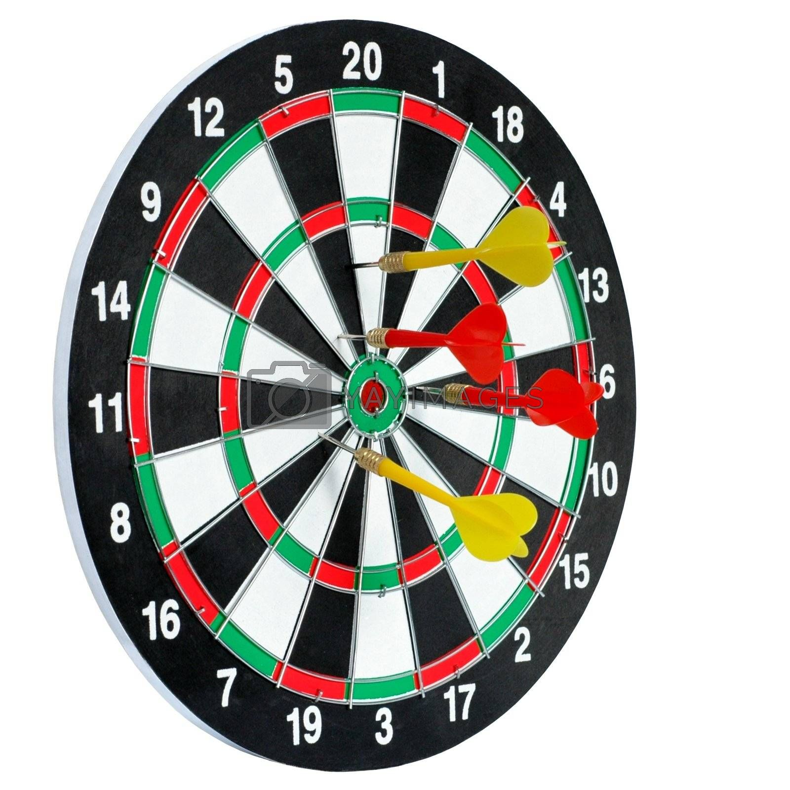 Isolated target and darts