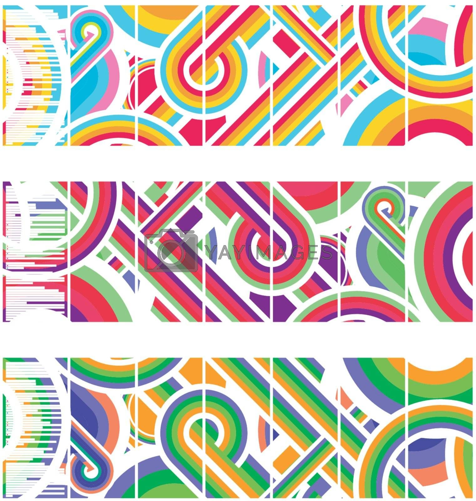 Leaflet vector template including art-brush in Adobe Illustrator file. White lines show the location of fold.