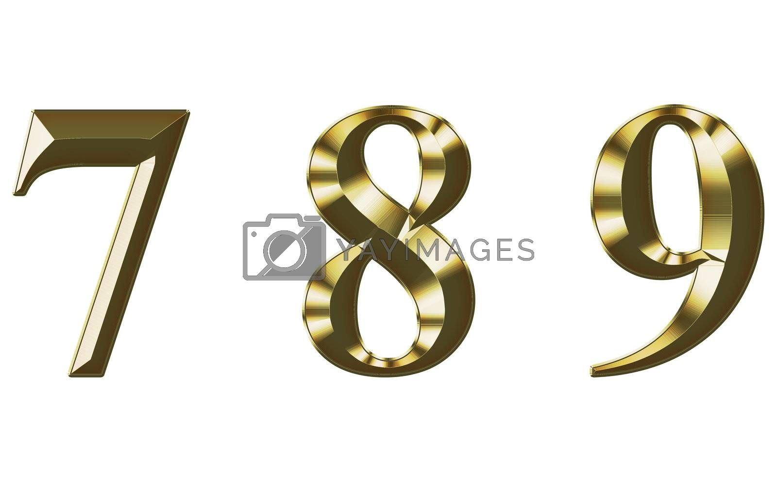 Exclusive collection font from brushed gold on white background