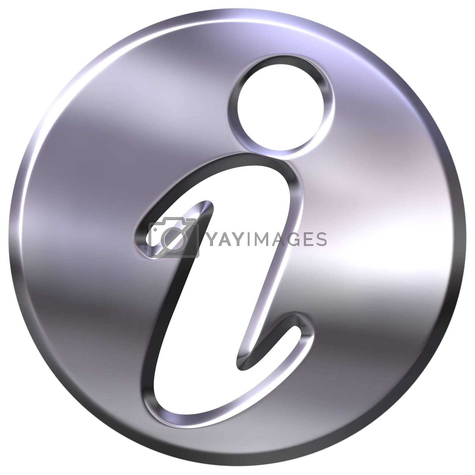 Royalty free image of 3D Silver Information Sign by Georgios