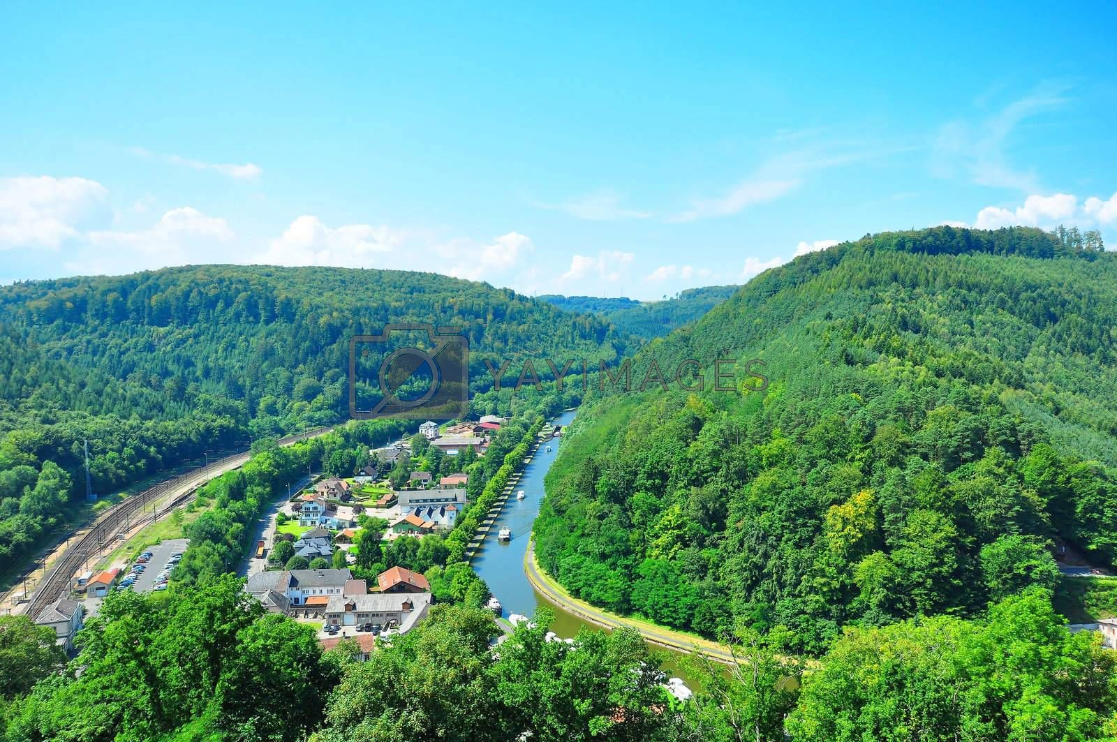 Royalty free image of Marne-Rhine Channel by mpgphoto