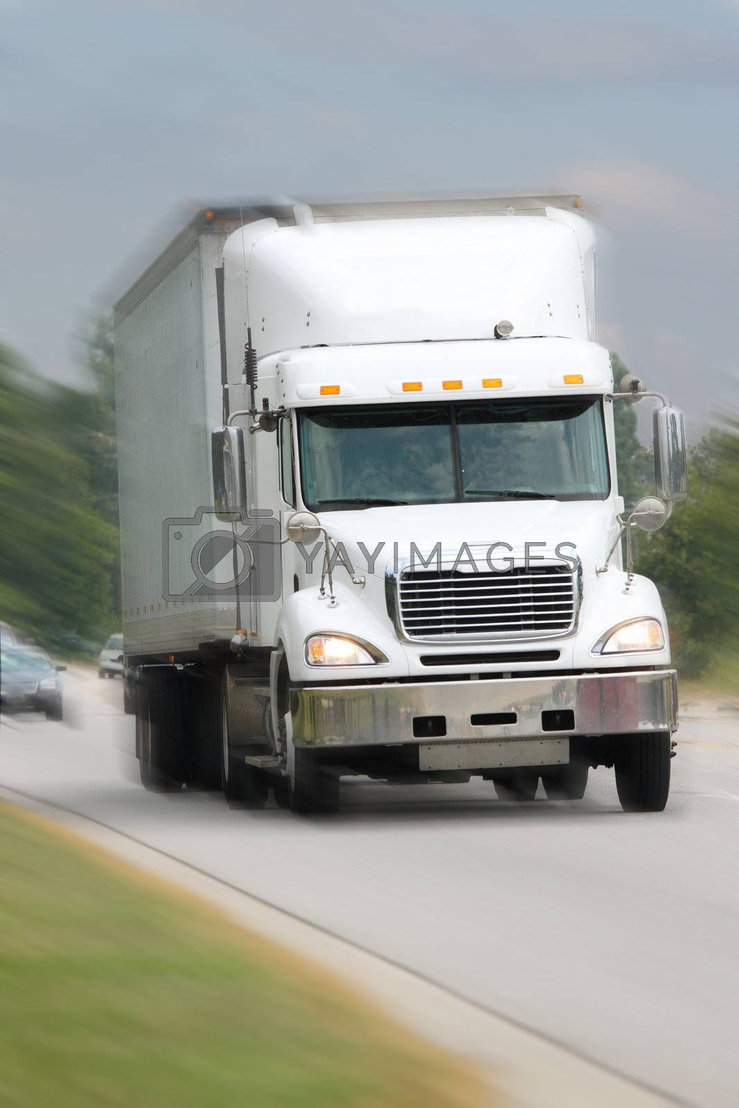 Royalty free image of truck on the move by gjdisplay