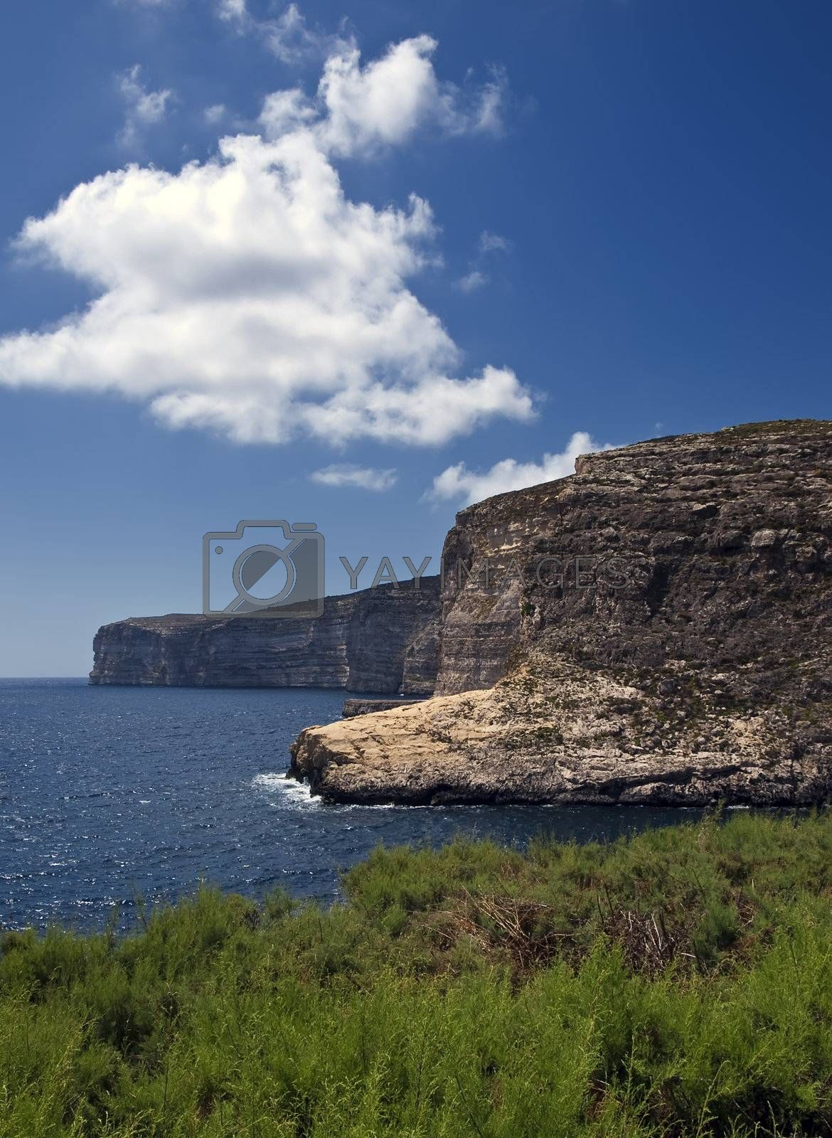 Royalty free image of Xlendi Cliffs by PhotoWorks