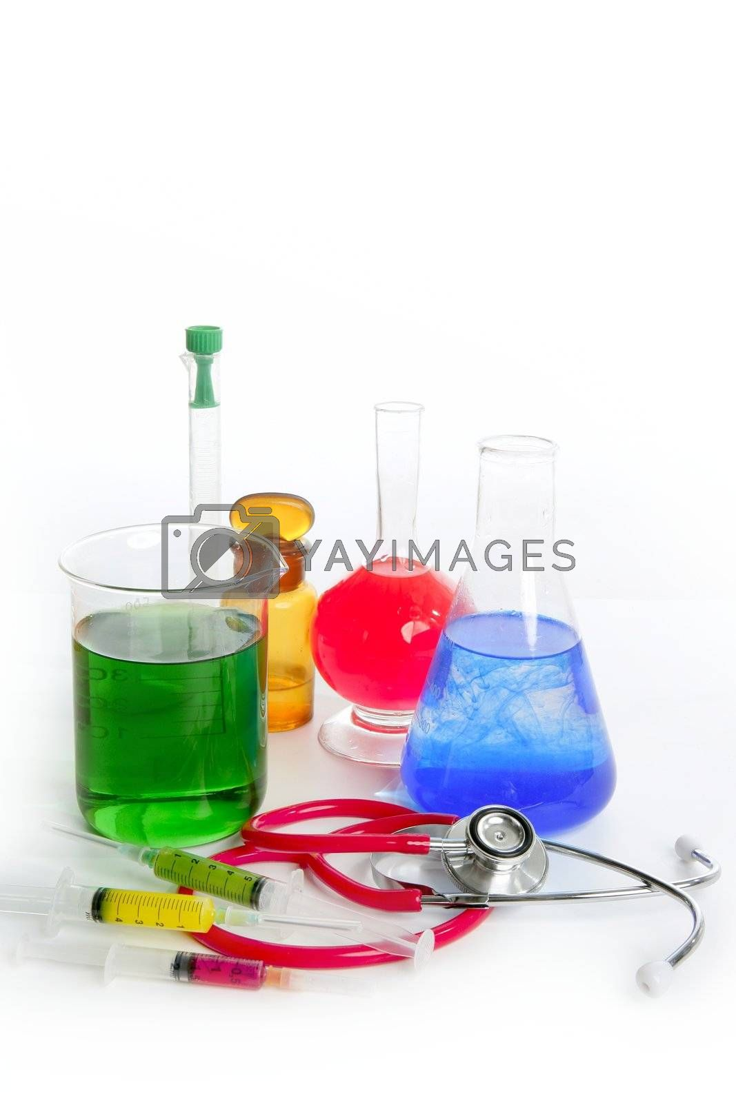 Royalty free image of Chemical research laboratory with medical equipment by lunamarina