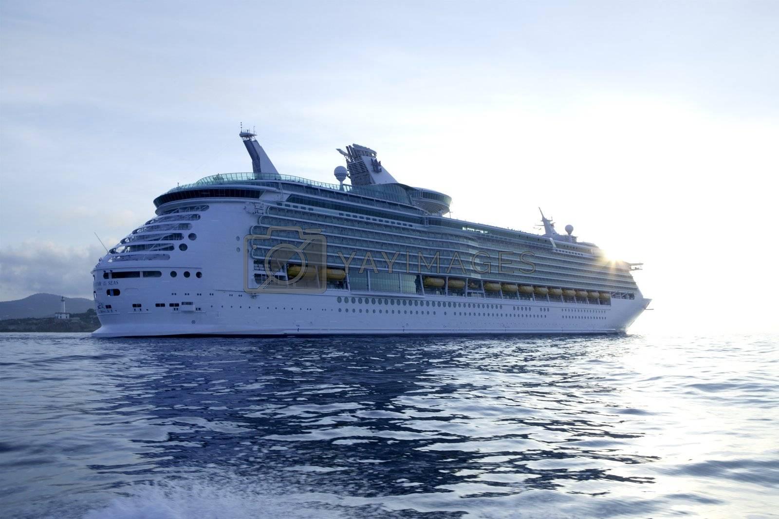 Royalty free image of Cruise in Ibiza Island, Mediterranean sunrise by lunamarina